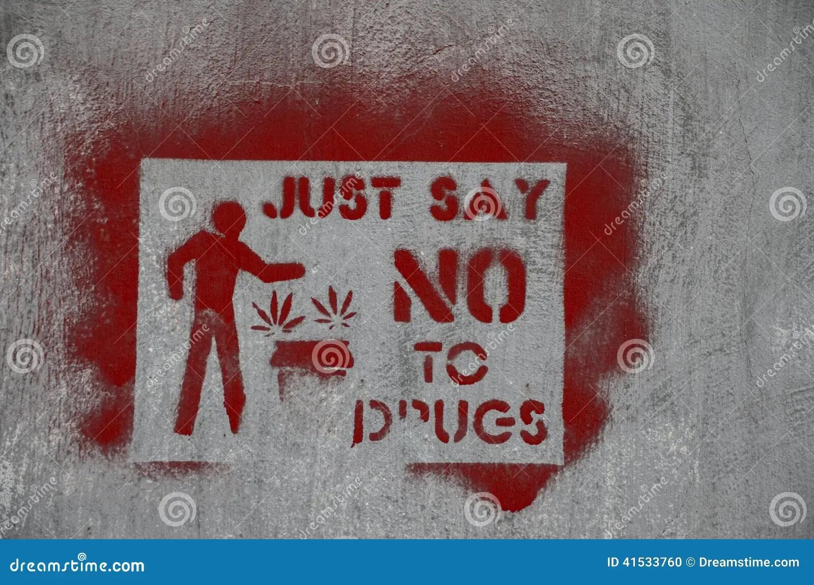 No Drugs Stock Photo
