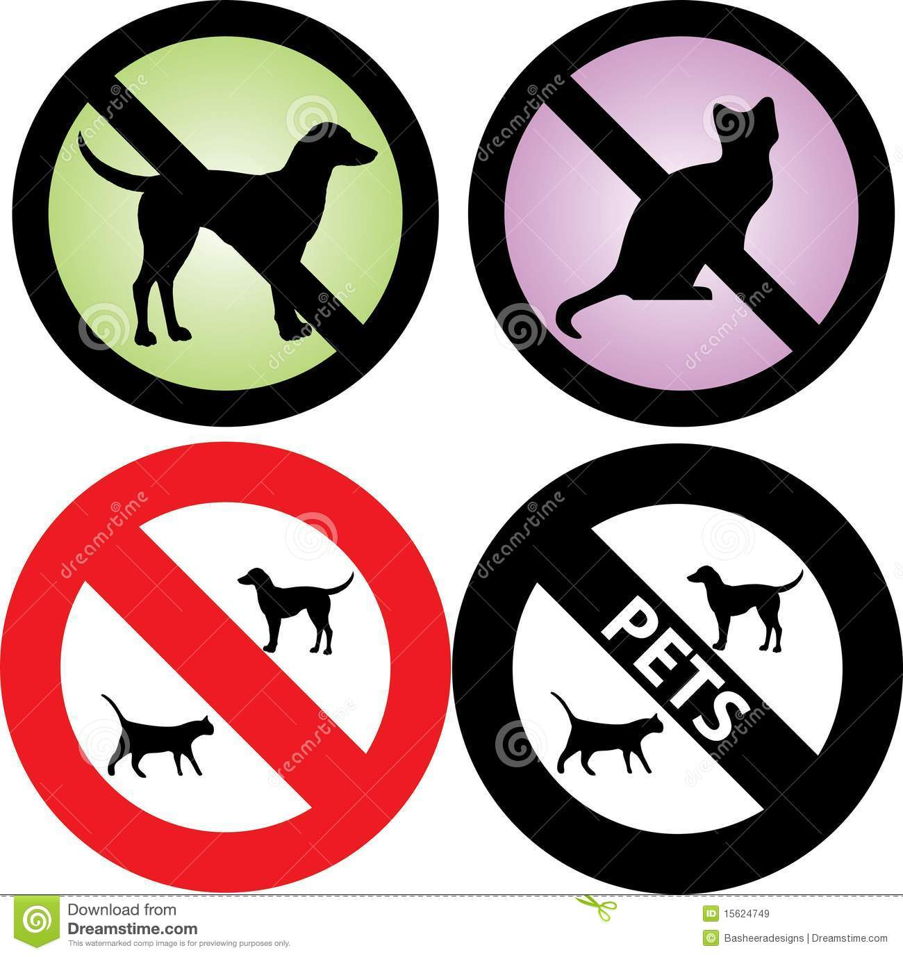 No Pets Allowed Sign Stock Vector Illustration Of Animals