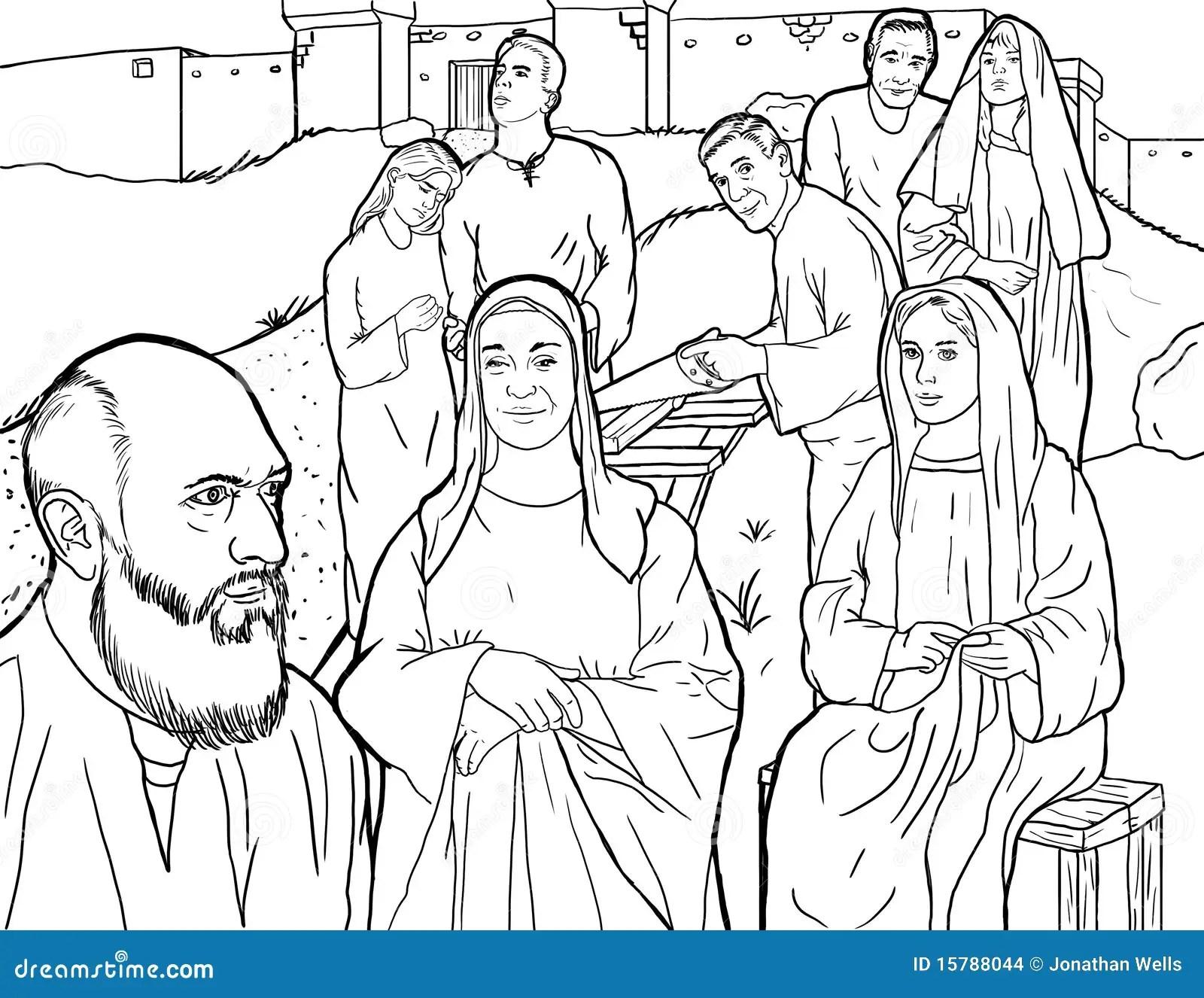 Noahs Familie Stockbilder