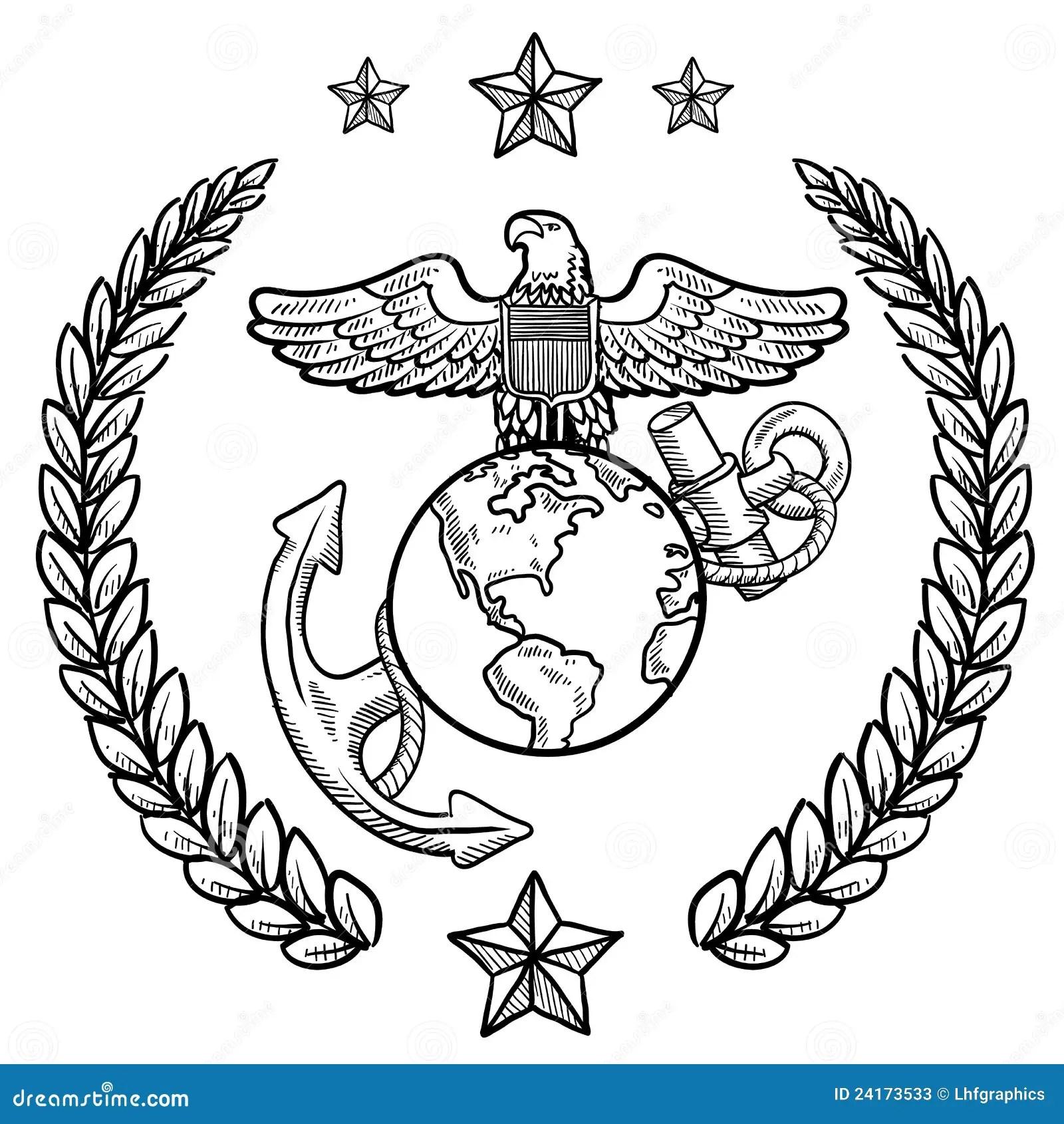 Nosotros Insignias Del Cuerpo Del Marines Ilustracion Del