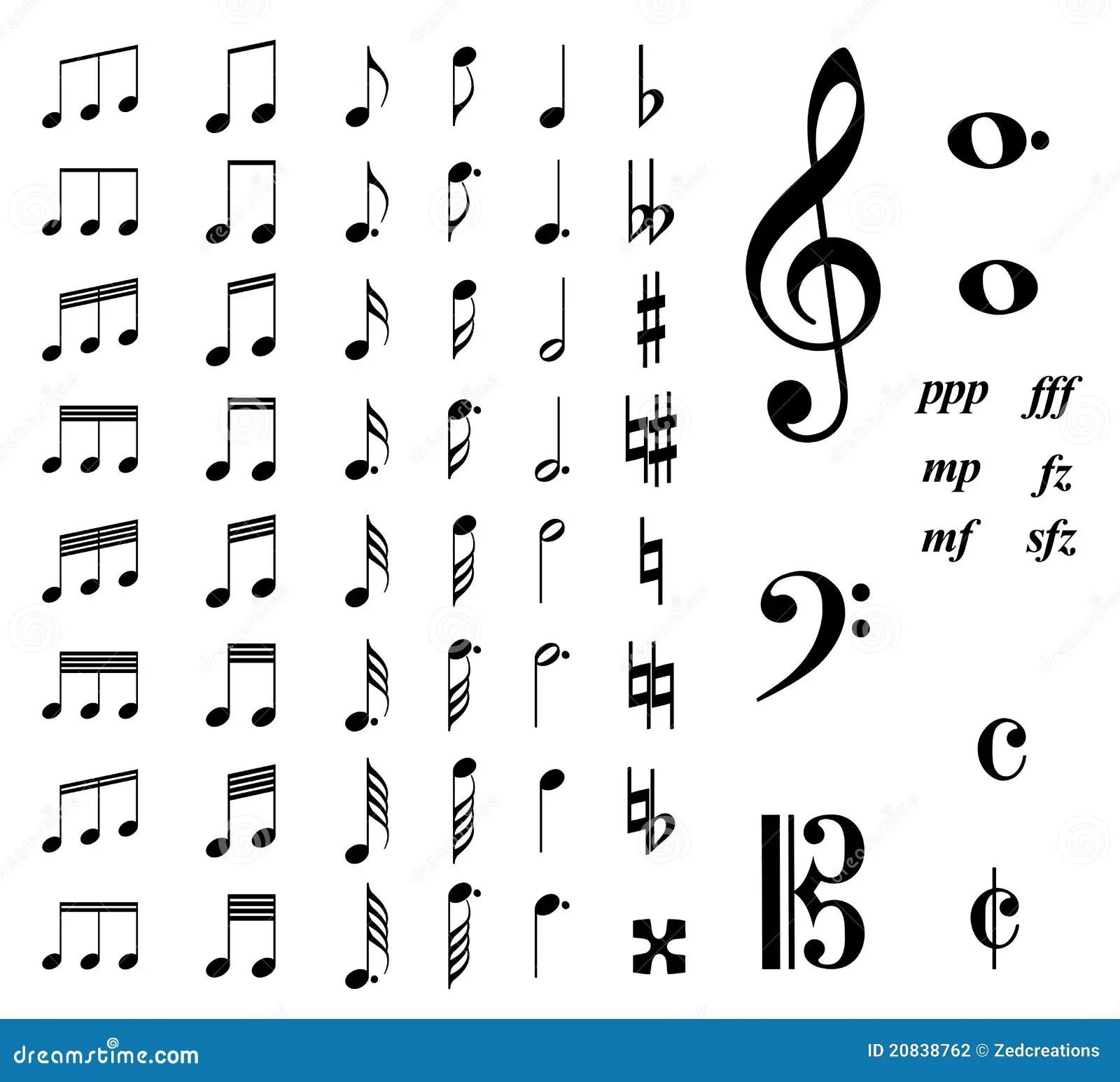 Notas De La Musica Ilustracion Del Vector Ilustracion De