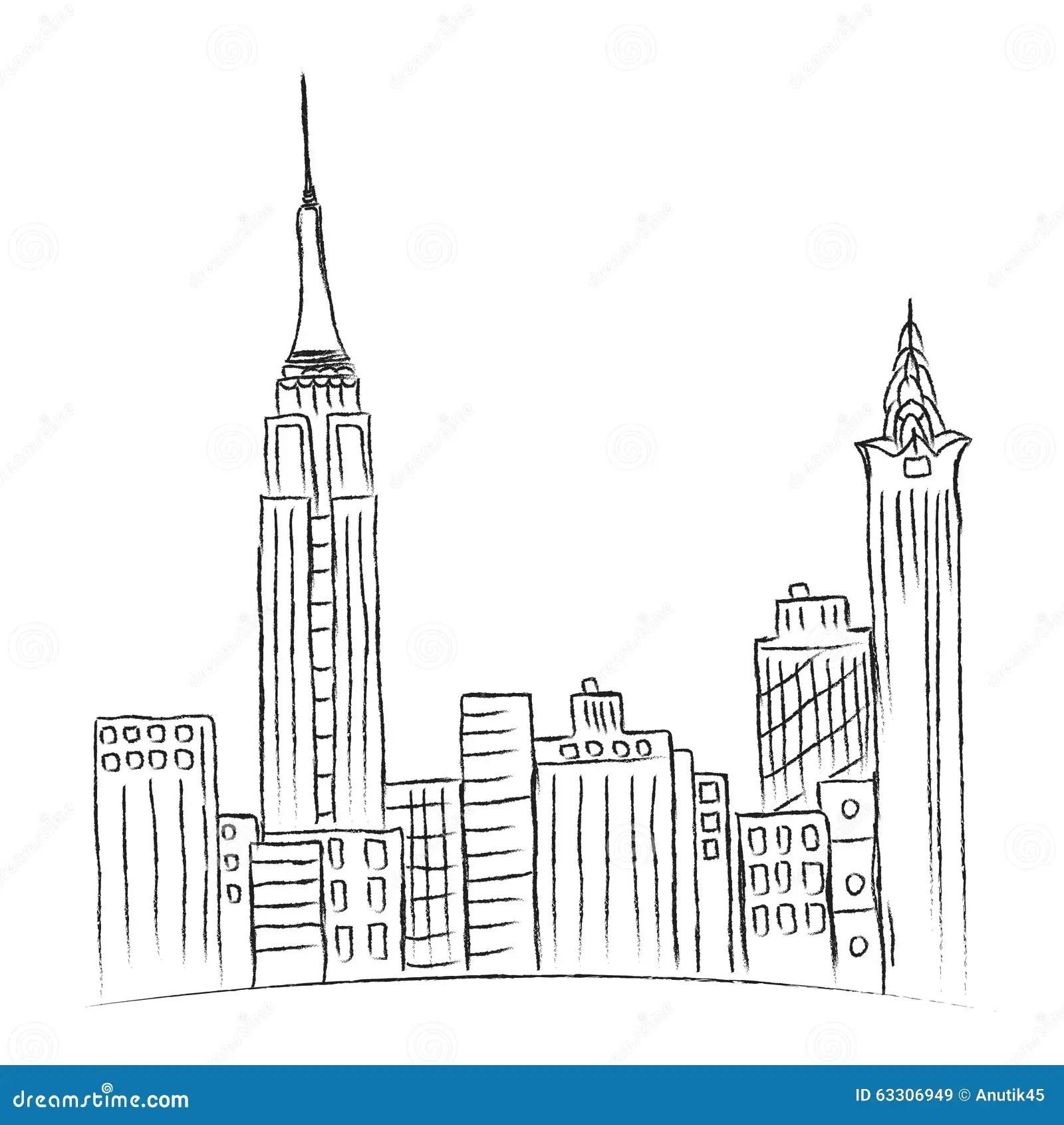 Nowo Ytny Miasto Nowy Jork Nakre Lenie Miasto Linia