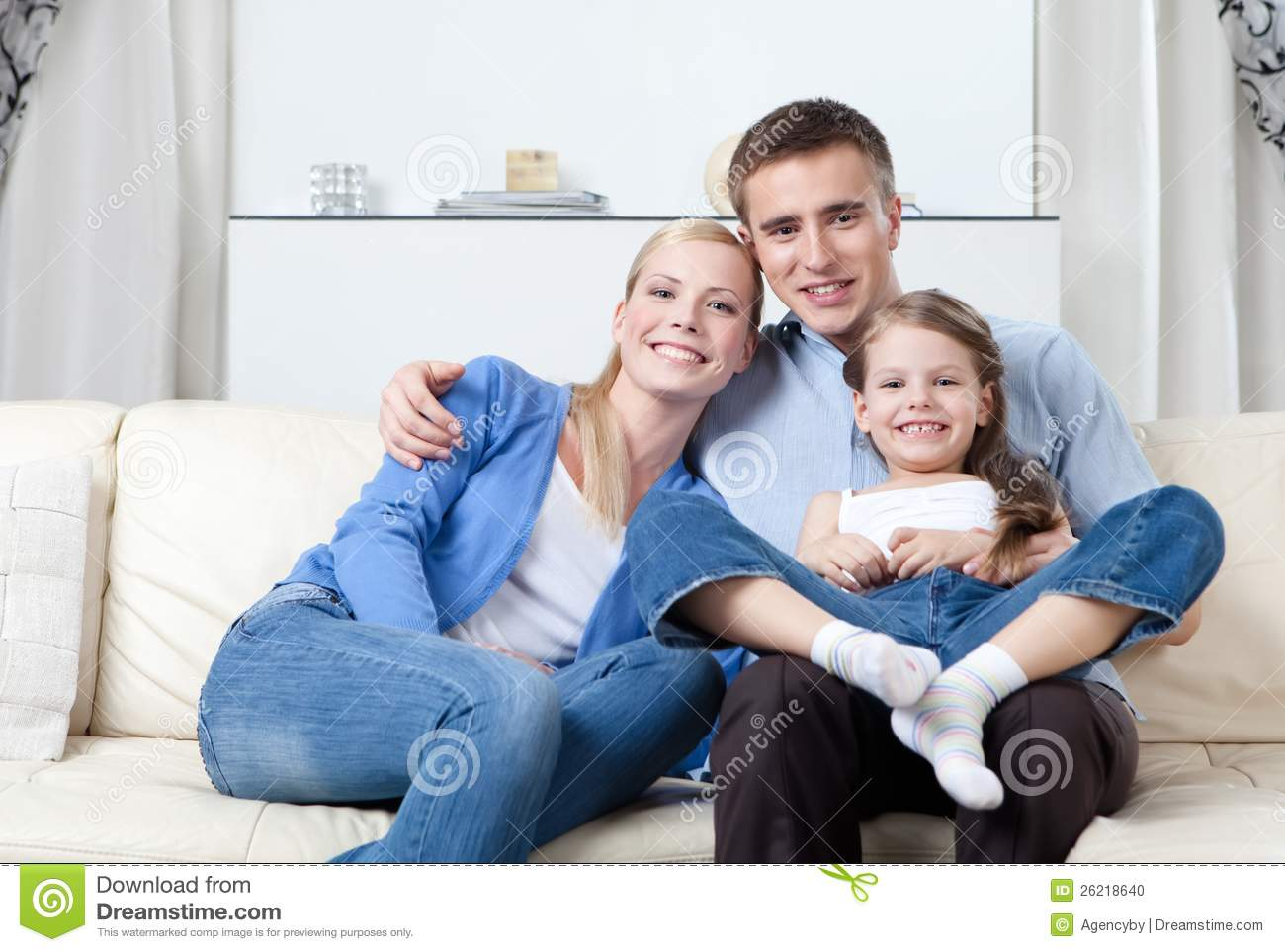 Nuclear Family Stock Photo Image Of Couple Blond