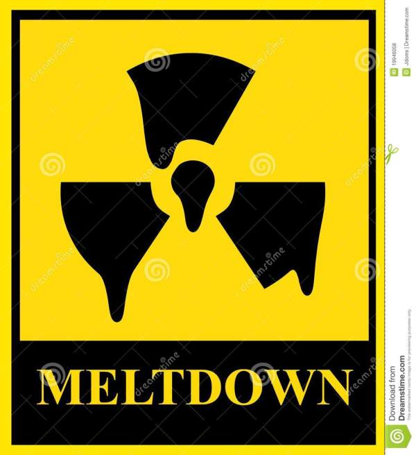 Nuclear meltdown sign stock illustration. Illustration of ...