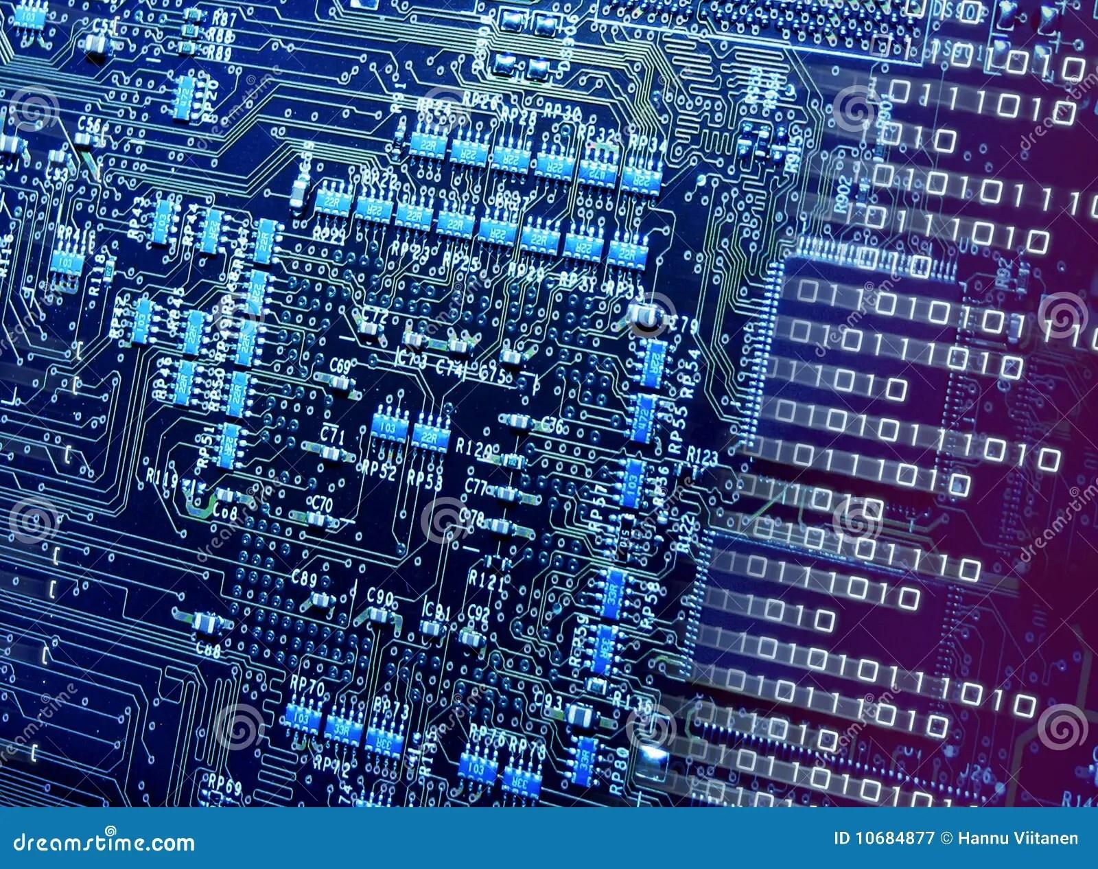Number Breaking Cpu Circuits Stock Image