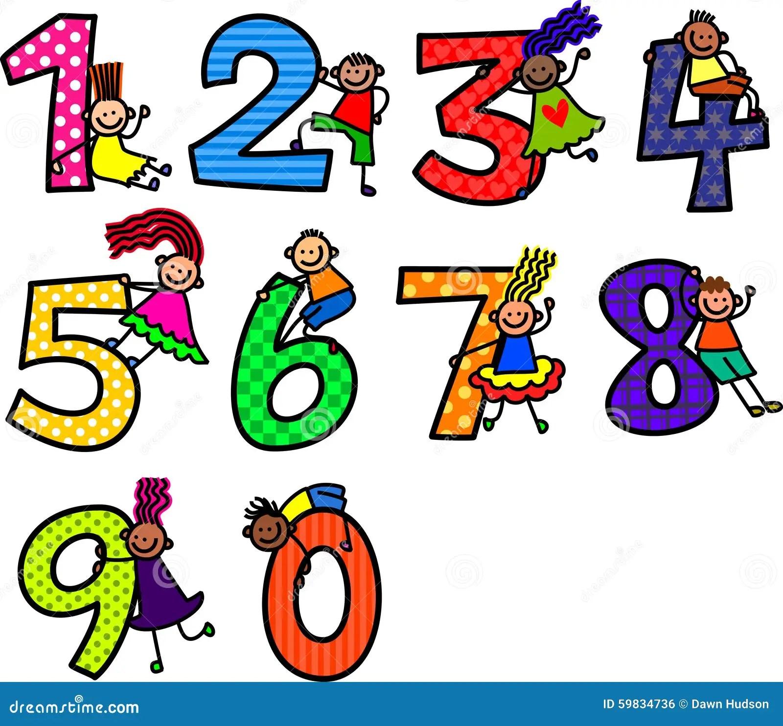 Number Kids Stock Illustration Illustration Of Five