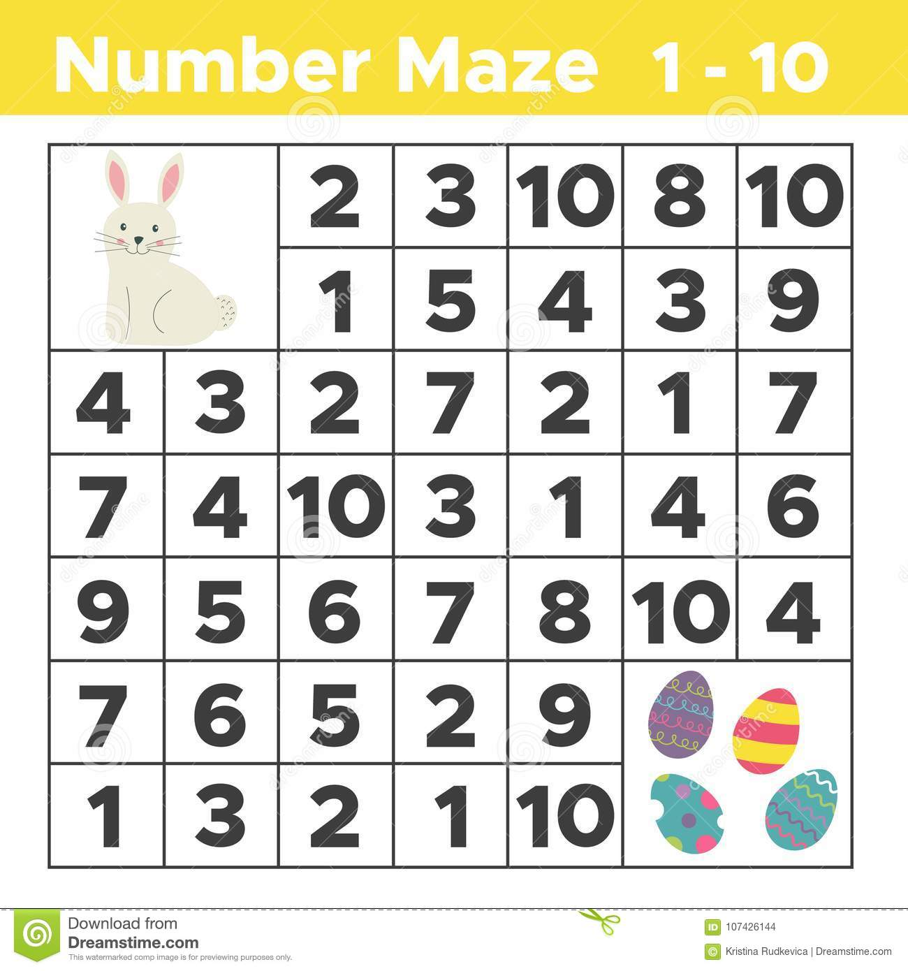 Rabbit Maze Worksheet Preschool