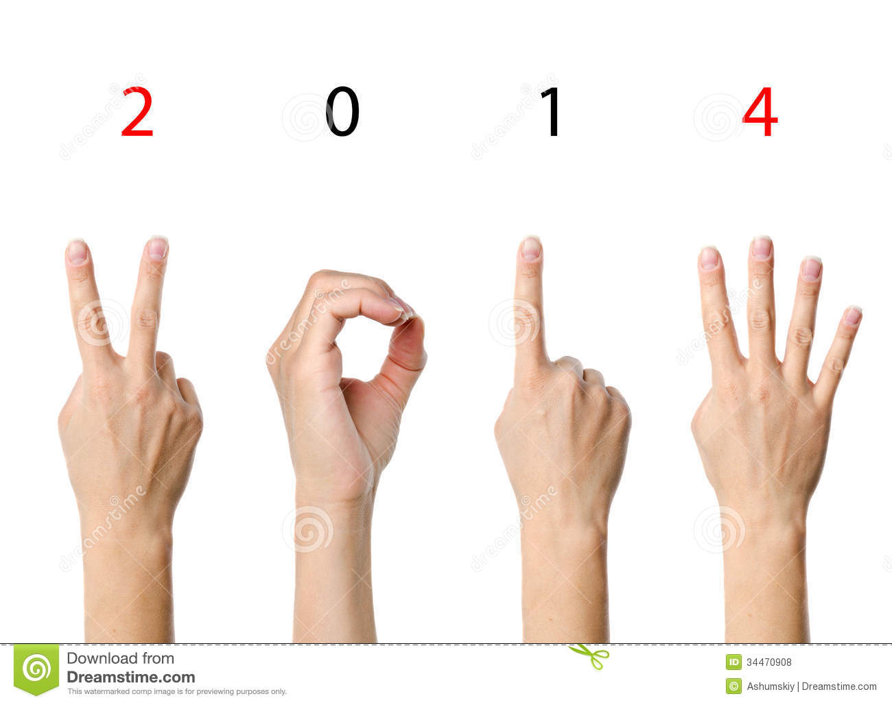 Clip Art 4 Fingers Number