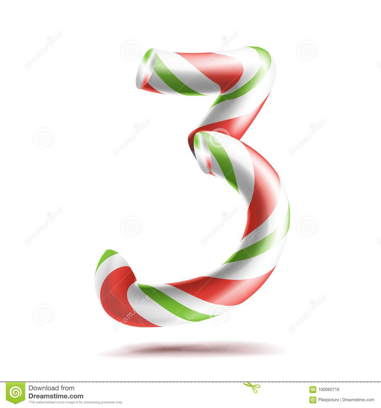 3 Number Three Vector 3d Number Sign Figure 3 In
