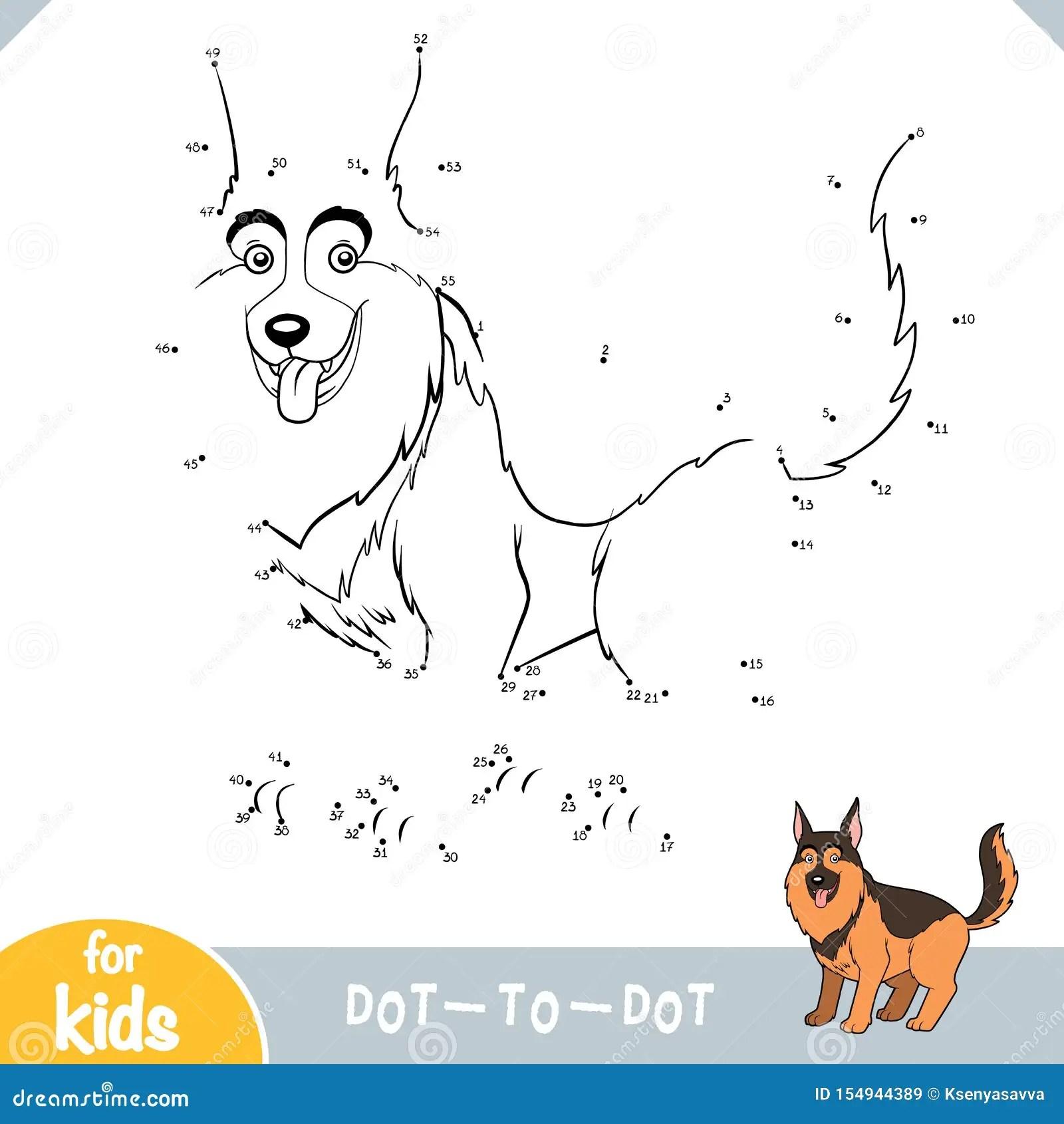 Numbers Game Education Game For Children German Shepherd