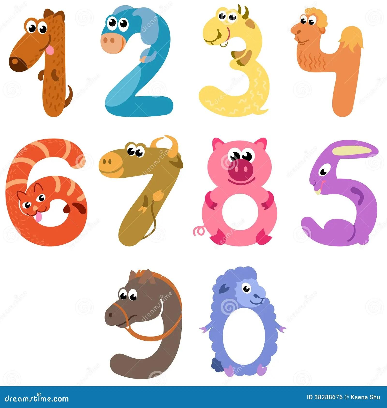 Numbers Like Farm Animals Stock Vector Illustration Of