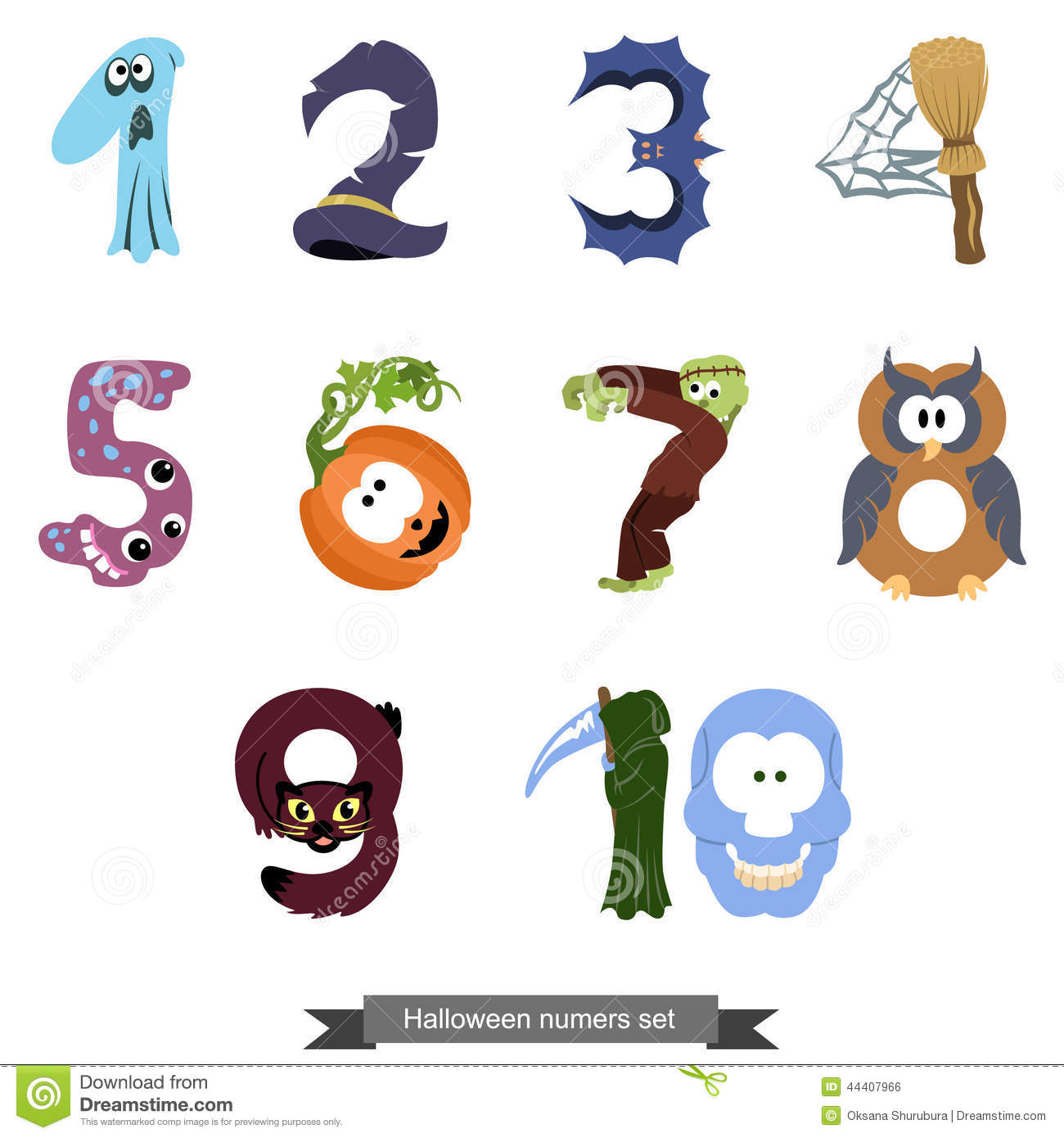 Numbers Like Symbols Of The Halloween Stock Vector