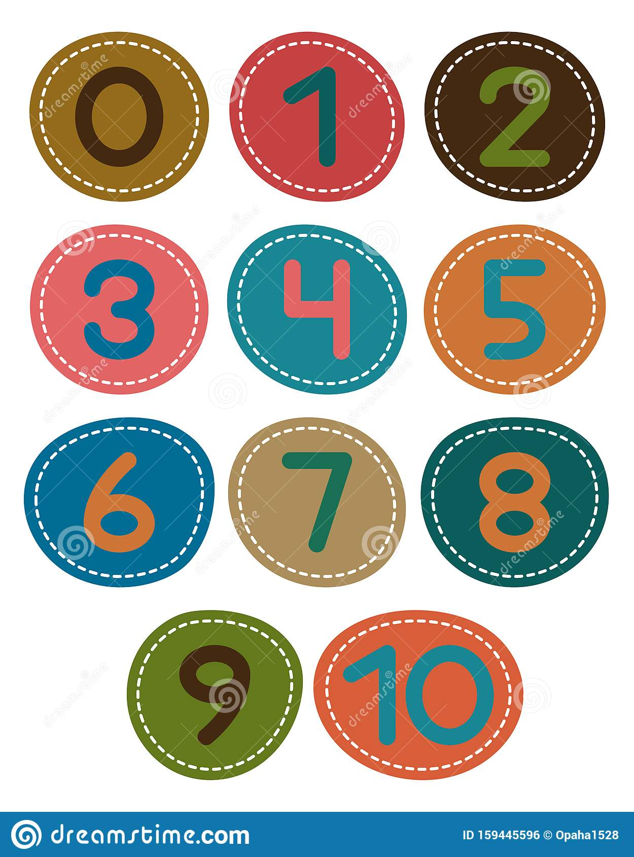 Numerals 1 10 Stock Vector Illustration Of Child