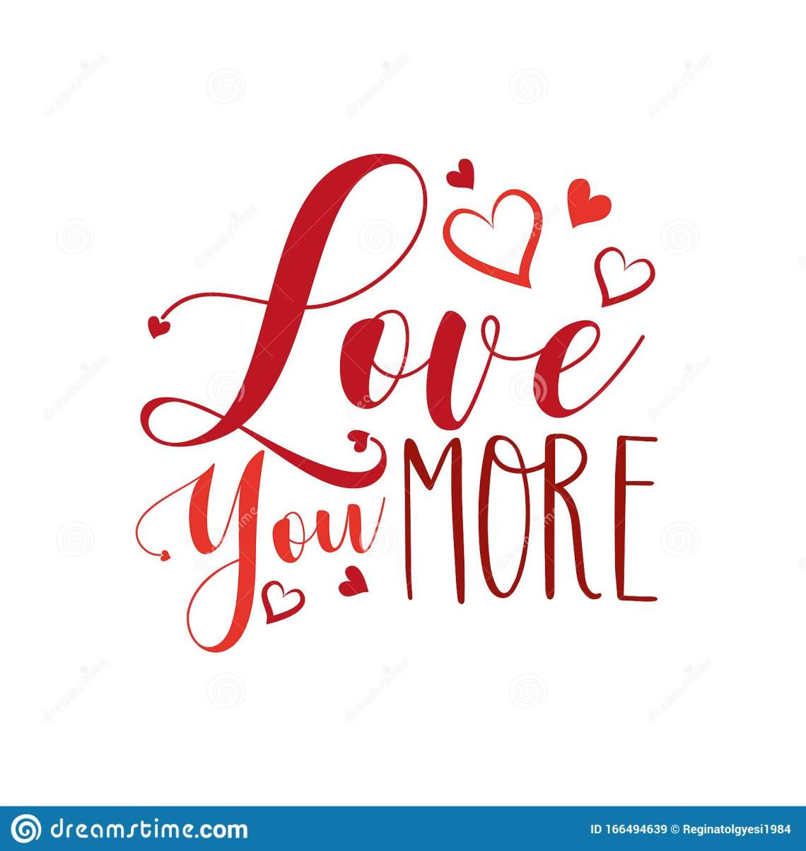 Download Love You More- Calligraphy Text, With Heart. Stock Vector ...