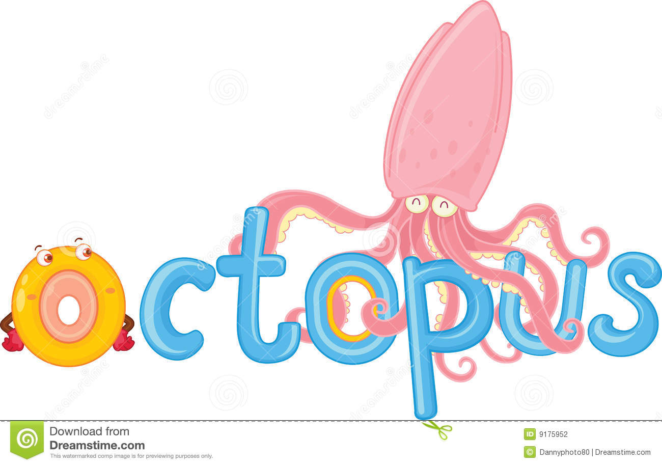 O For Octopus Stock Illustration Image Of Small Letter