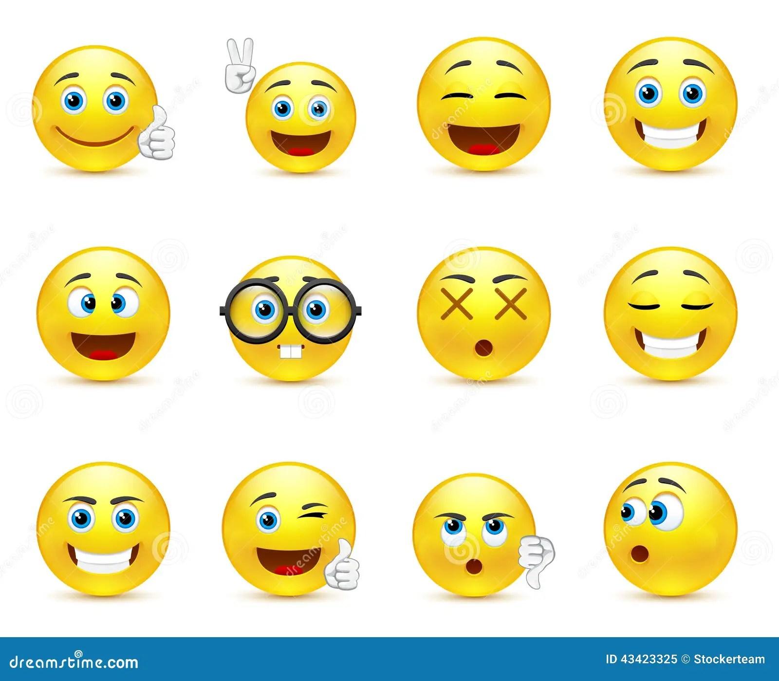 O Smiley Enfrenta As Imagens Que Expressam Emocoes