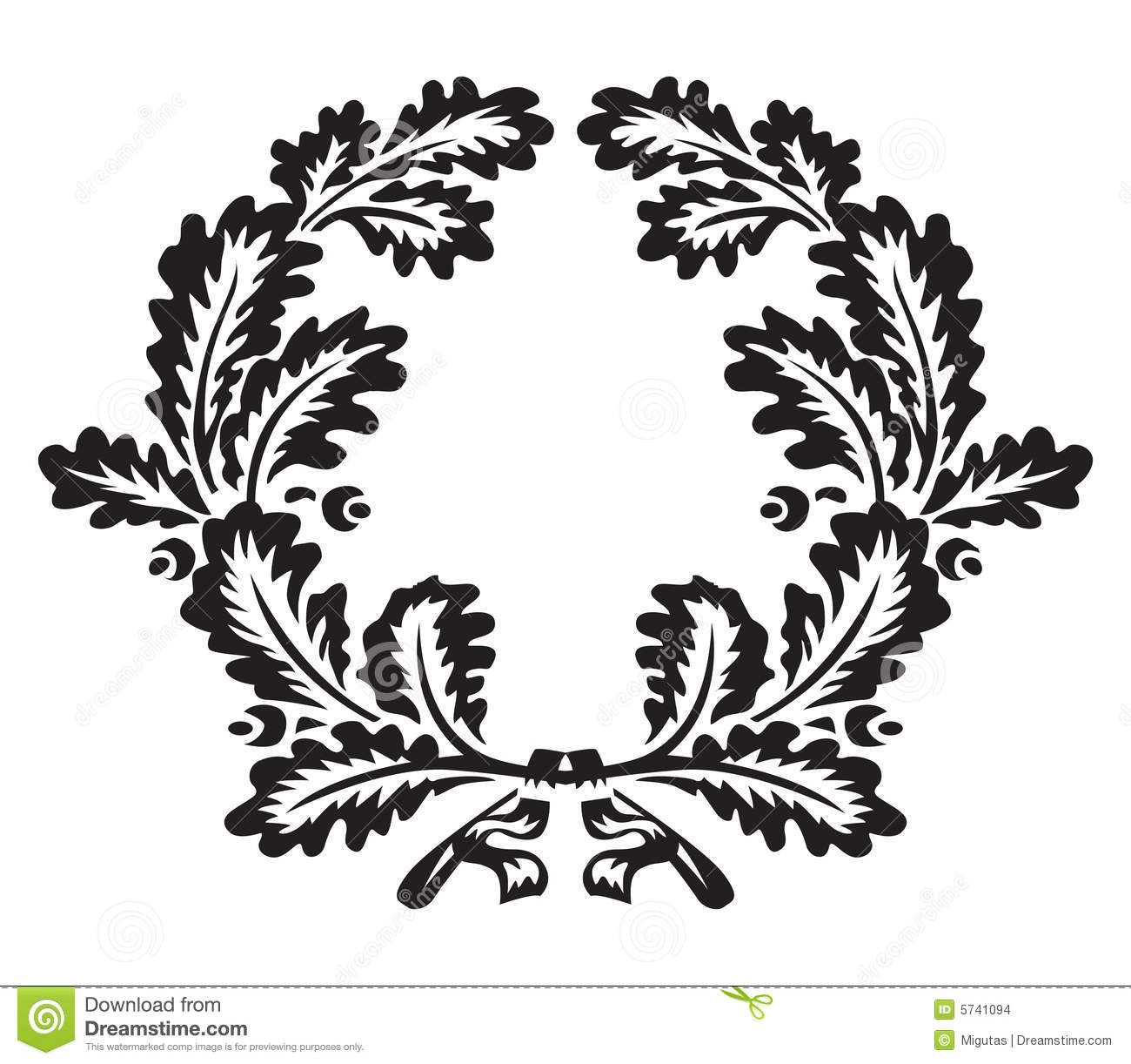 Oak Wreath Stock Vector Illustration Of Trophy Element