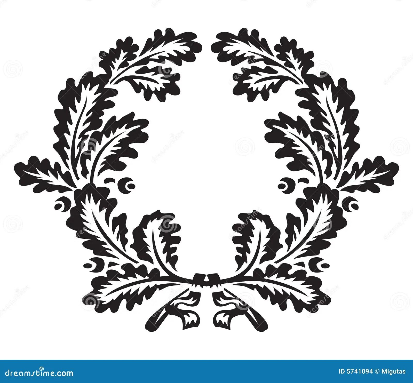 Oak Wreath Stock Vector Image Of Trophy Element Garland
