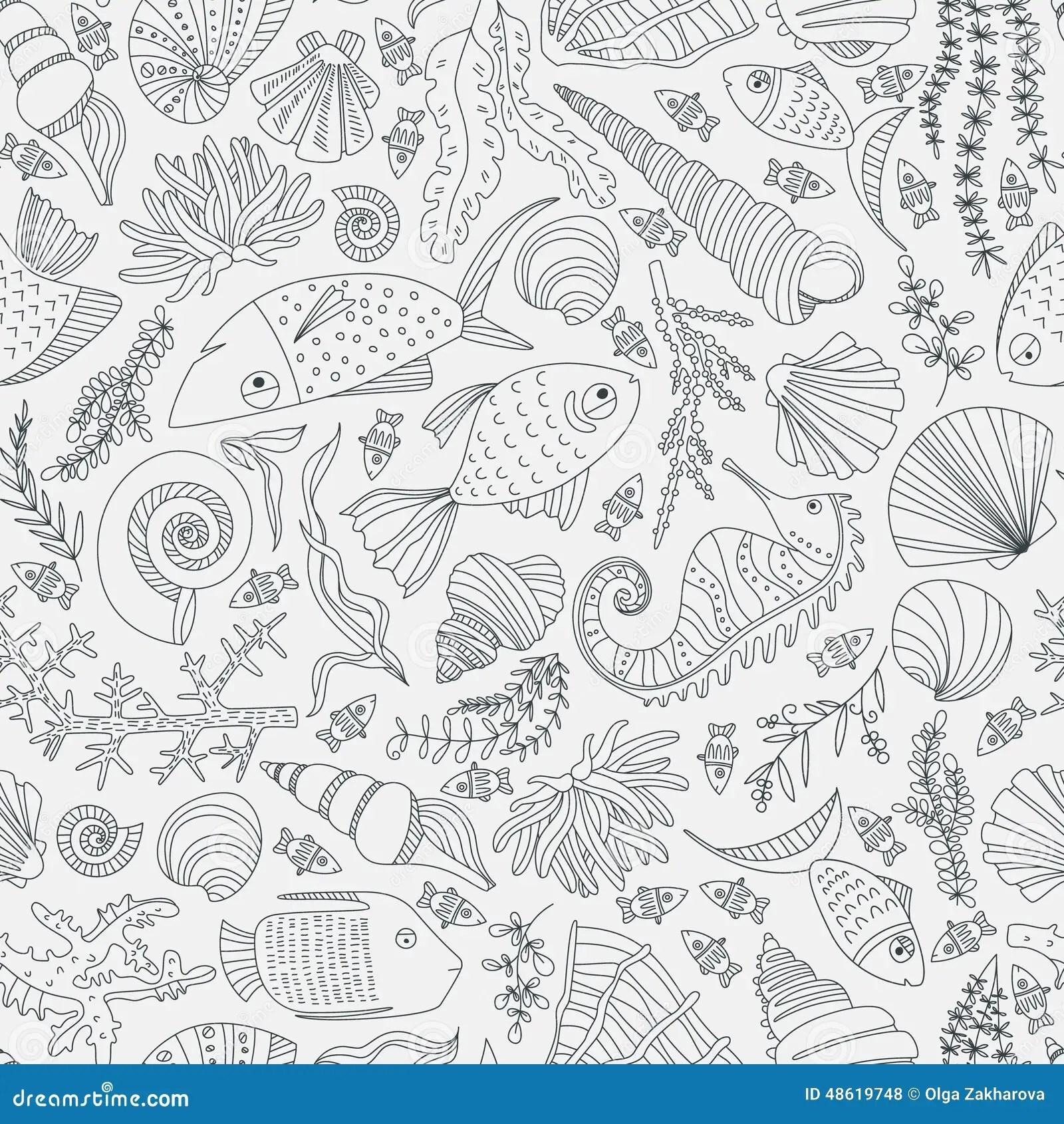 Ocean Pattern Stock Vector Illustration Of Animal Decor