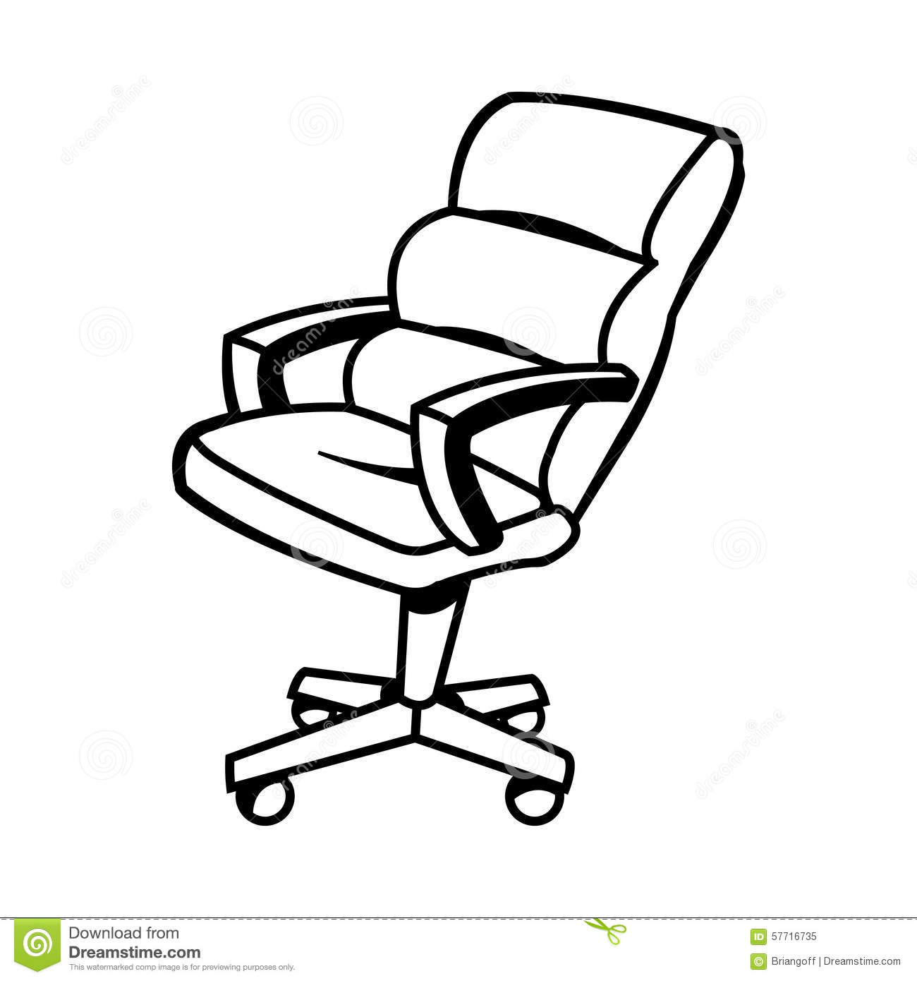 Office Chair Stock Vector Illustration Of Design Grey