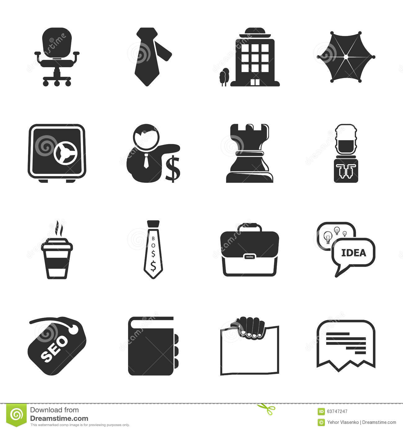 Office 16 Icons Universal Set For Web And Mobile Vector