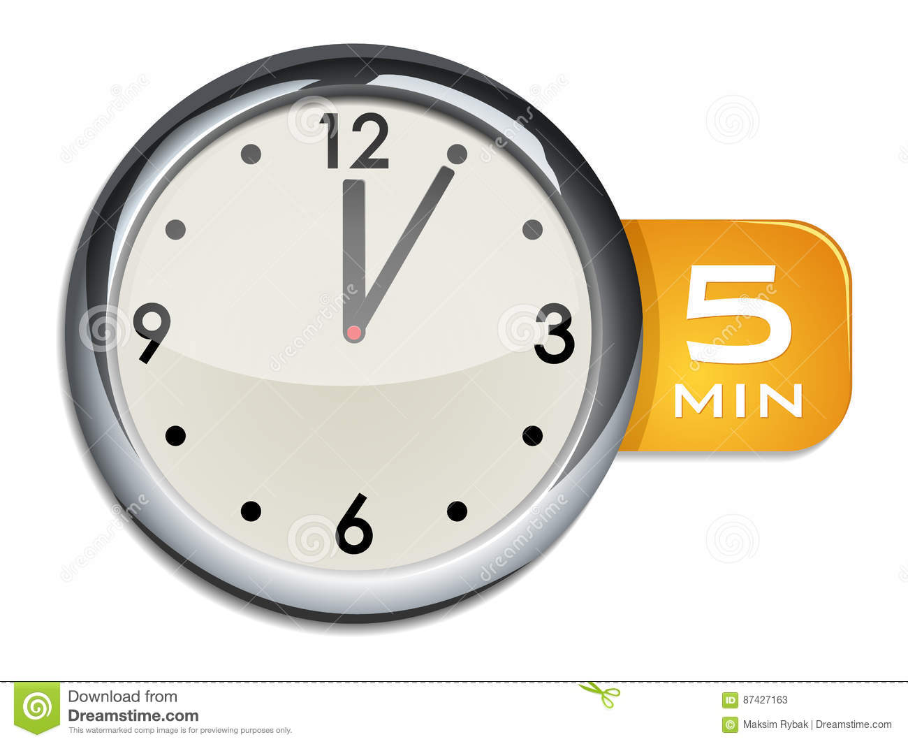Timer Clock With 5 10 15 30 45 60 Min Signs Cartoon
