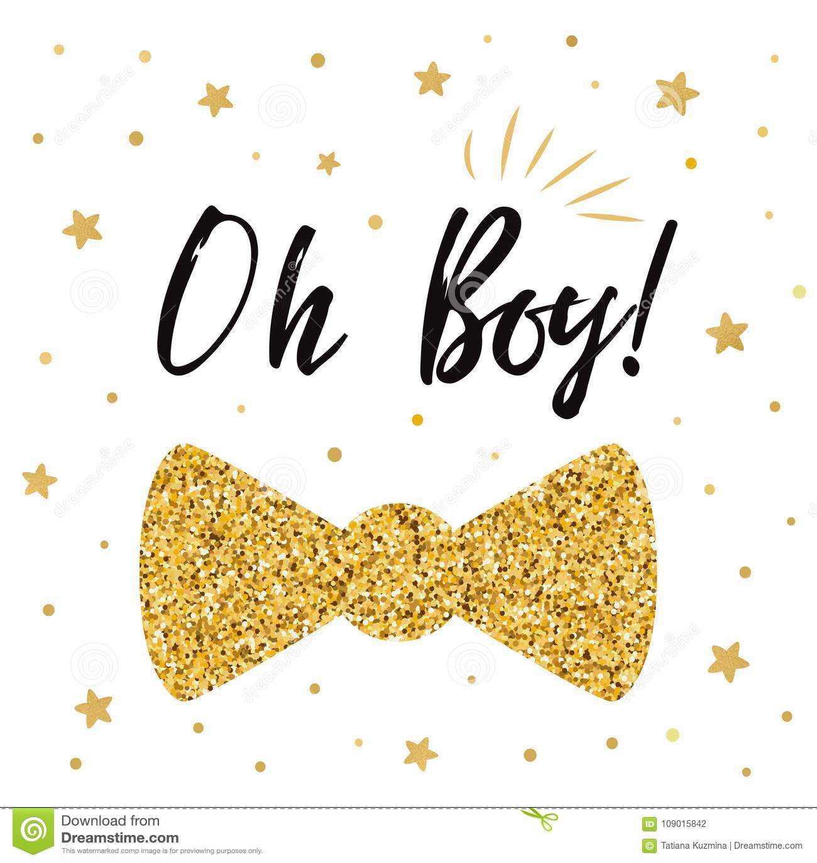 https www dreamstime com oh boy cute baby shower gold stars bow tie butterfly birthday invitation birthdauy vector illustration littlegold black image109015842