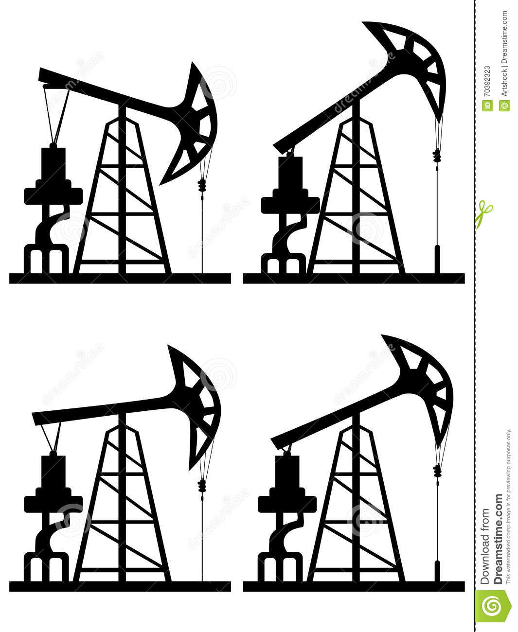 Oil Derrick Silhouette Stock Vector Image Of Platform