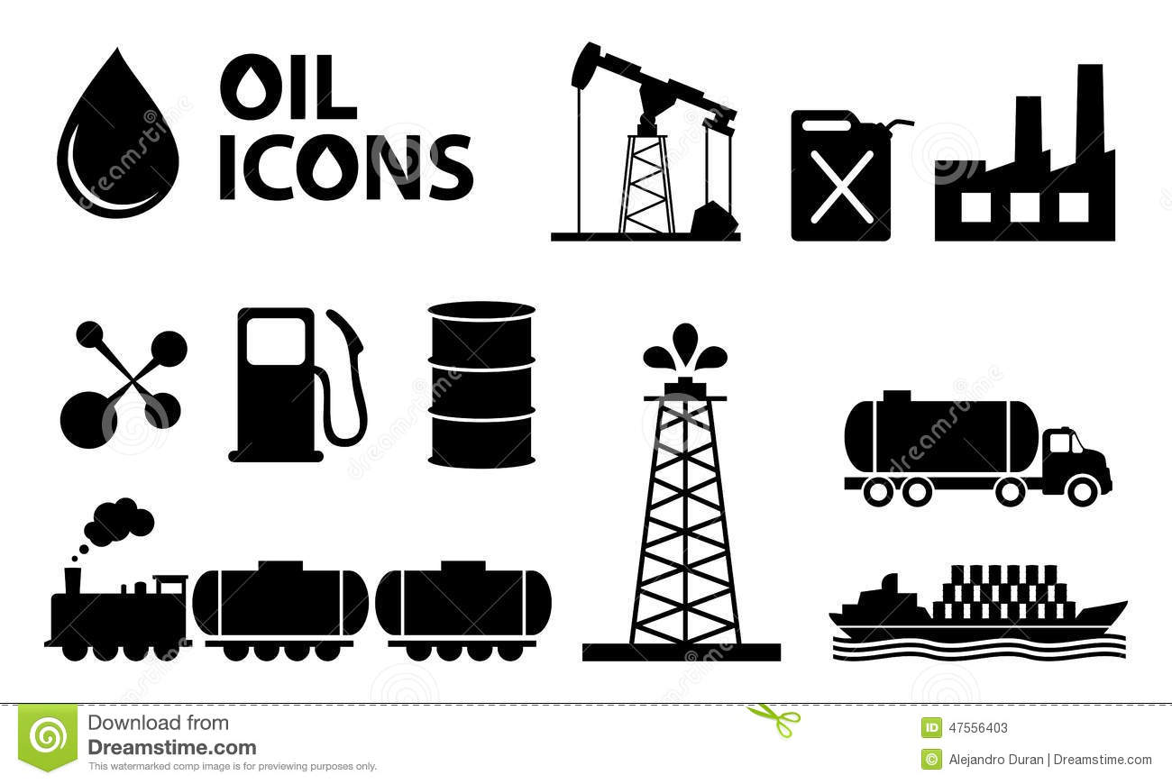 Oil Icons Stock Vector Image Of Barrel Industry