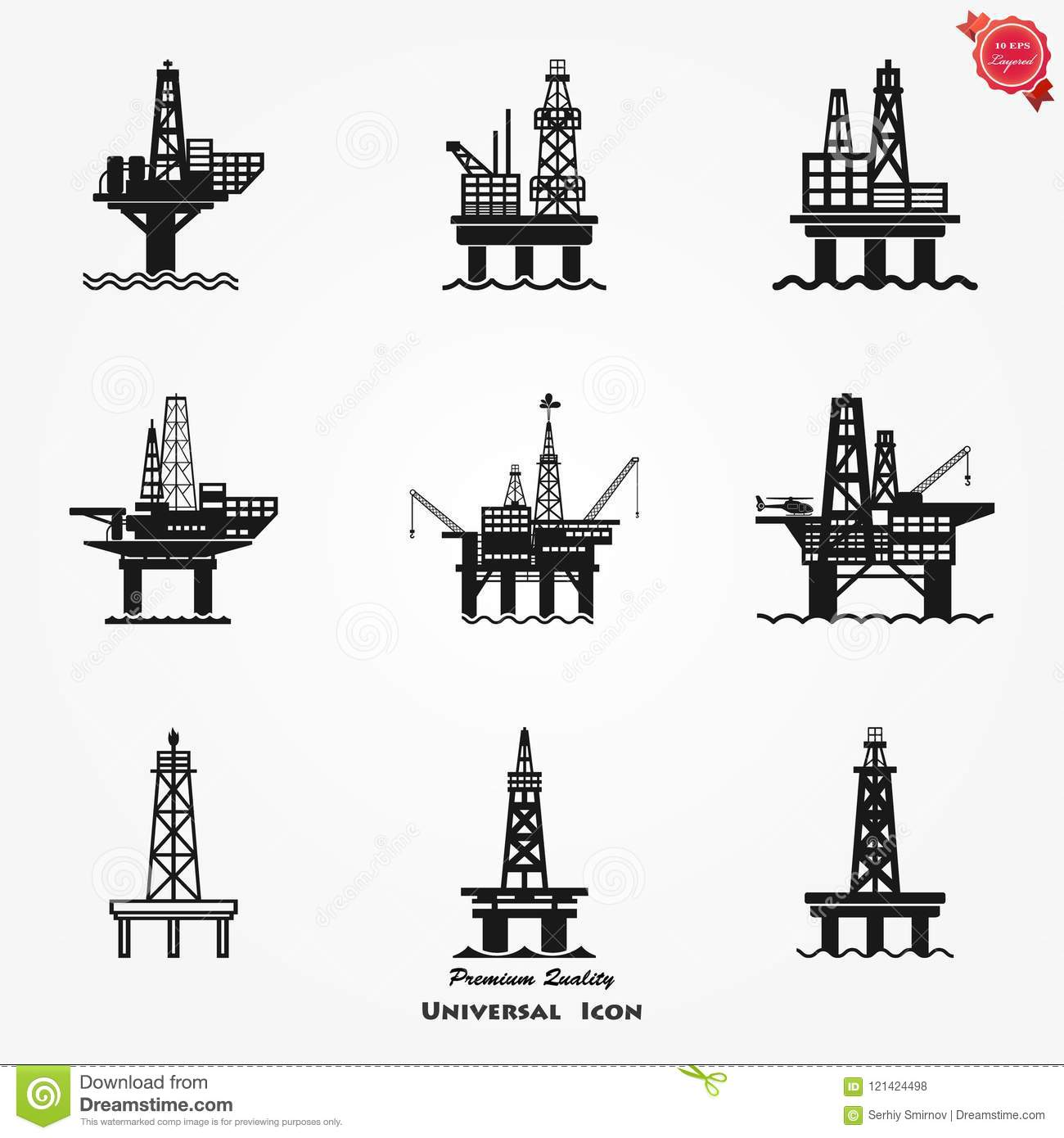 Oil Rig Clipart