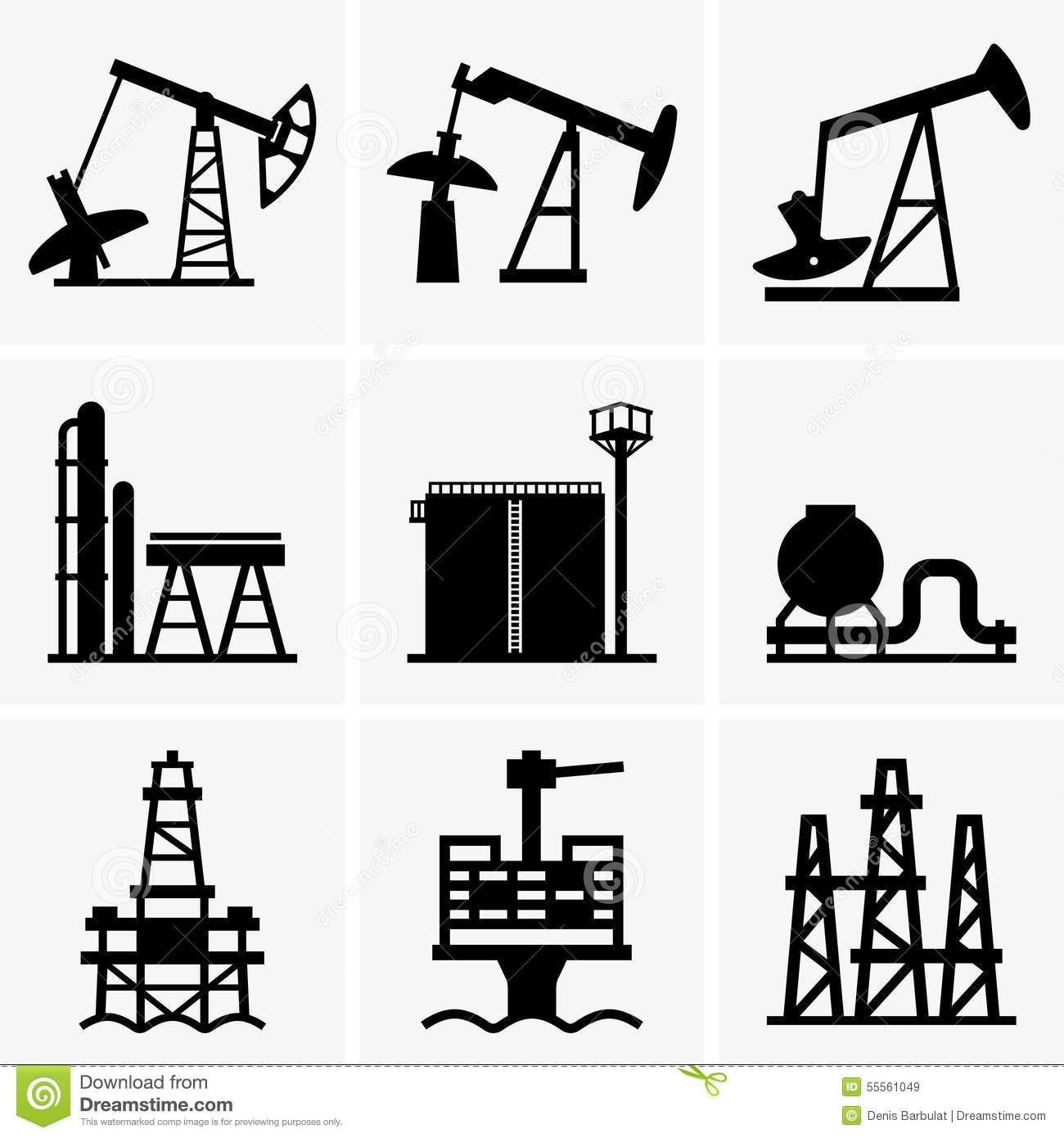 Oil Rig And Refinery Stock Vector Image Of Fuel Gasoline