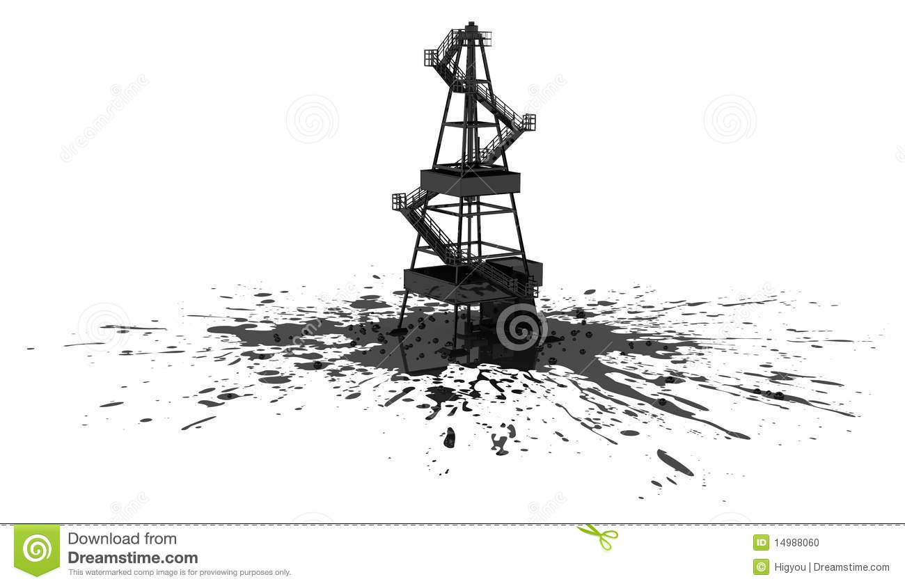 Oil Rig Spill Stock Illustration Illustration Of