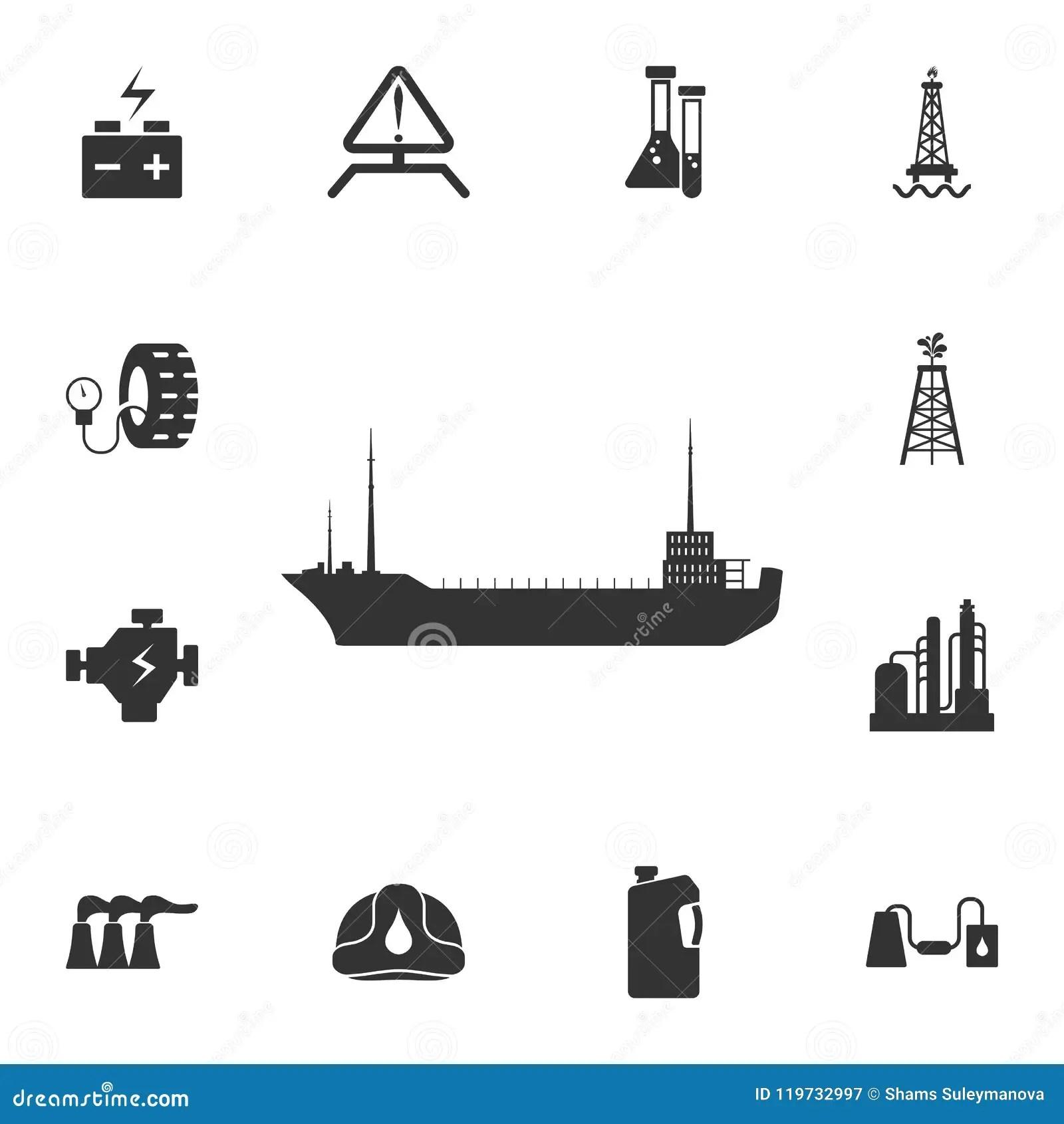 Oil Tanker Icon Simple Element Illustration Oil Tanker