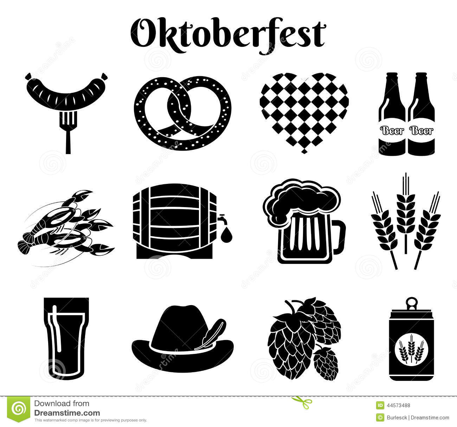 Oktoberfest Icons Editorial Stock Photo Illustration Of