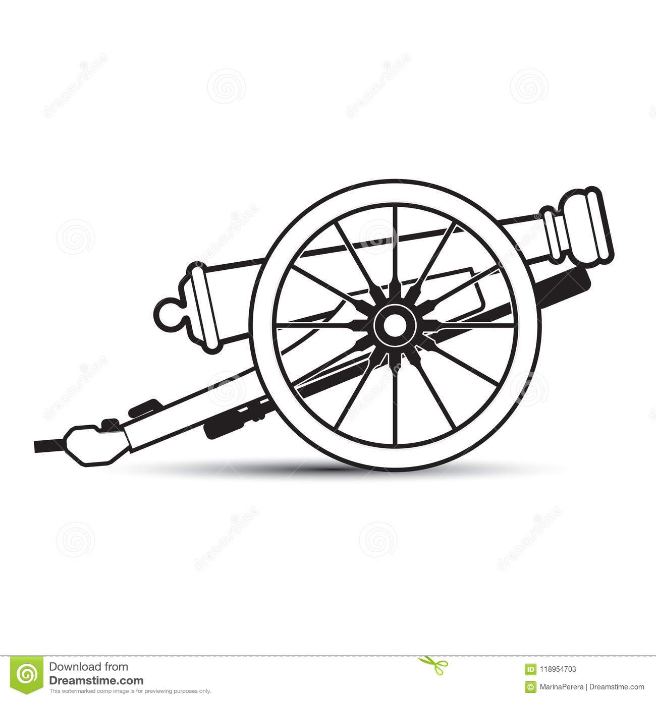Cannon Outline Stock Illustrations 1 031 Cannon Outline