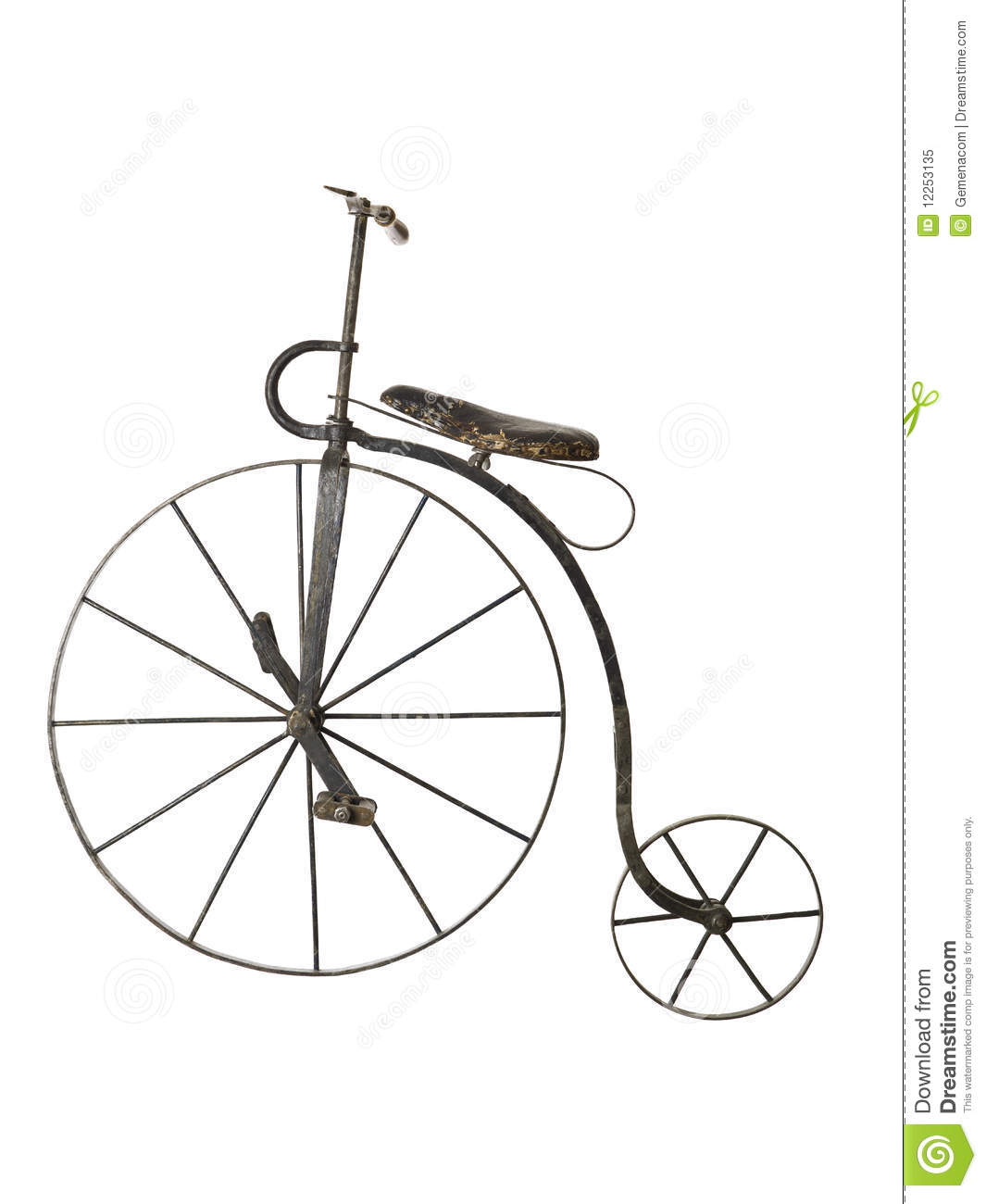 Old Bicycle Stock Image Image Of Rare Obsolete
