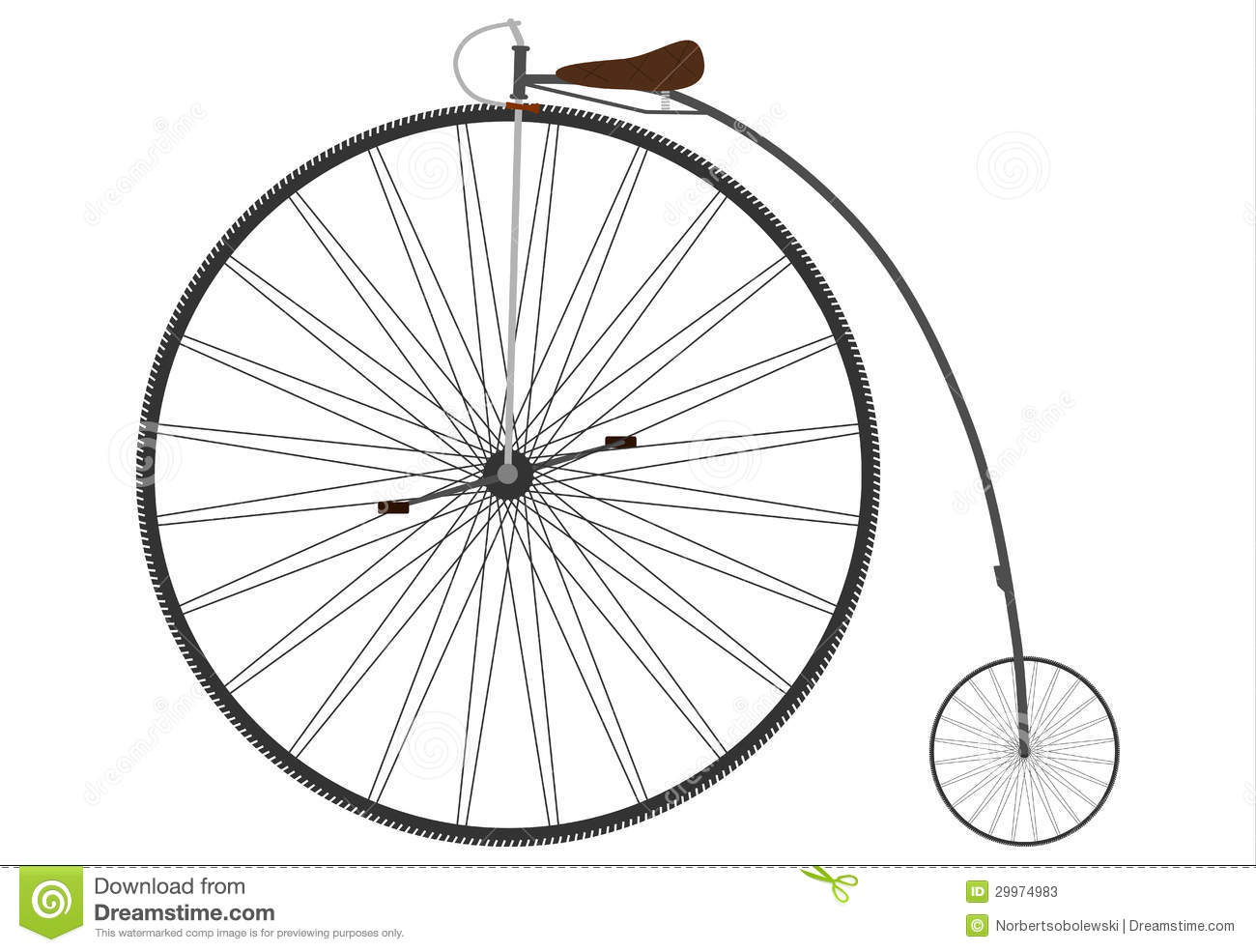 Old Bicycle Stock Vector Image Of Decorative Movement
