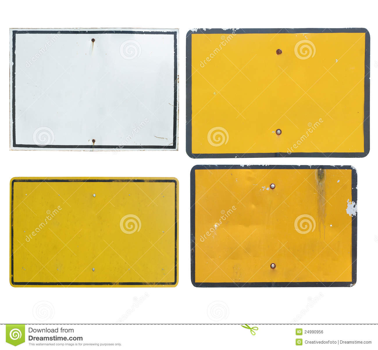 Old Blank Traffic Sign Stock Photo Image Of Construction