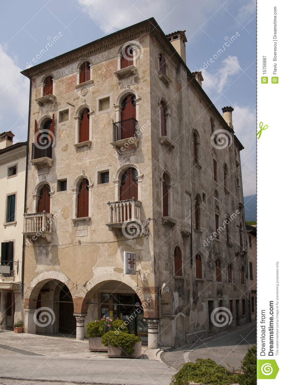 Old Building In Italian Town Royalty Free Stock