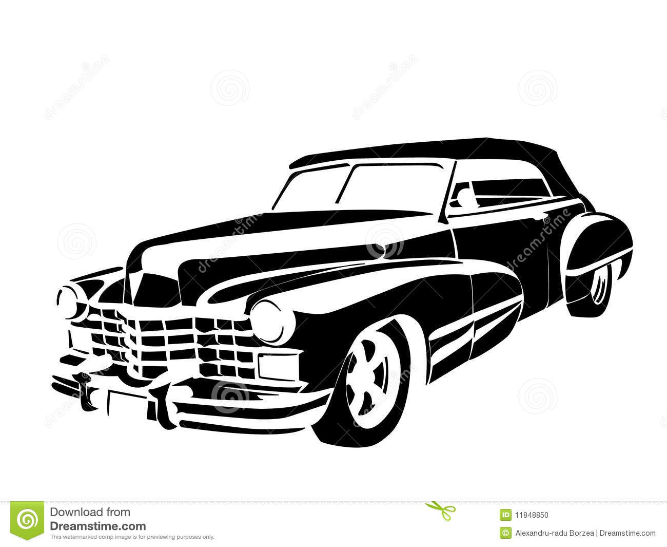 Old Car Stock Vector Illustration Of Stencil Collection