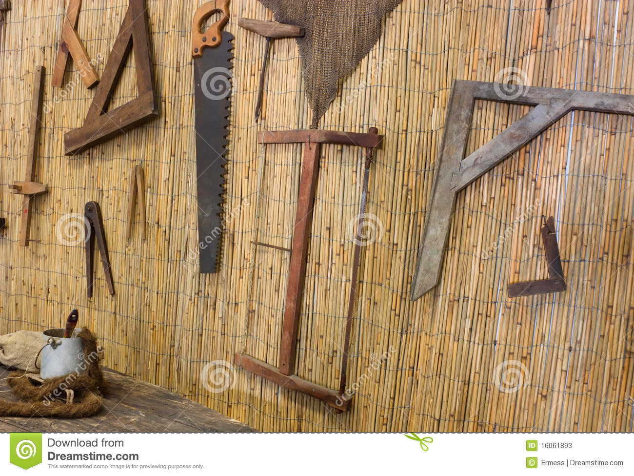 Old Carpentry Stock Image Image Of Mallet Board Plank