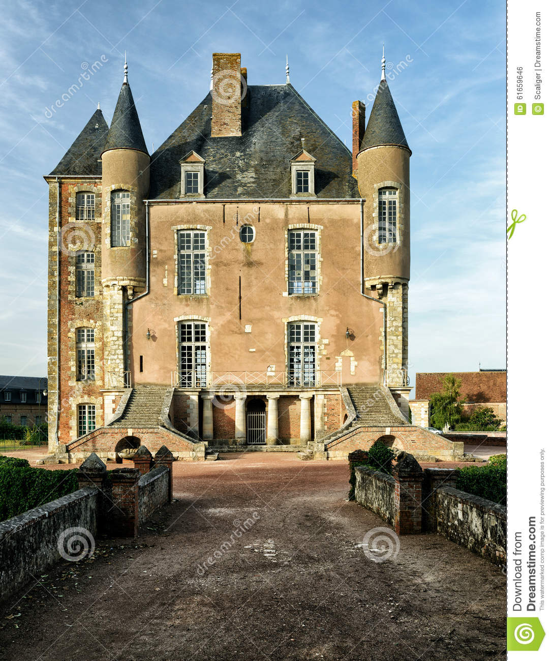 The Old Castle In The Loire Valley Stock Photo Image