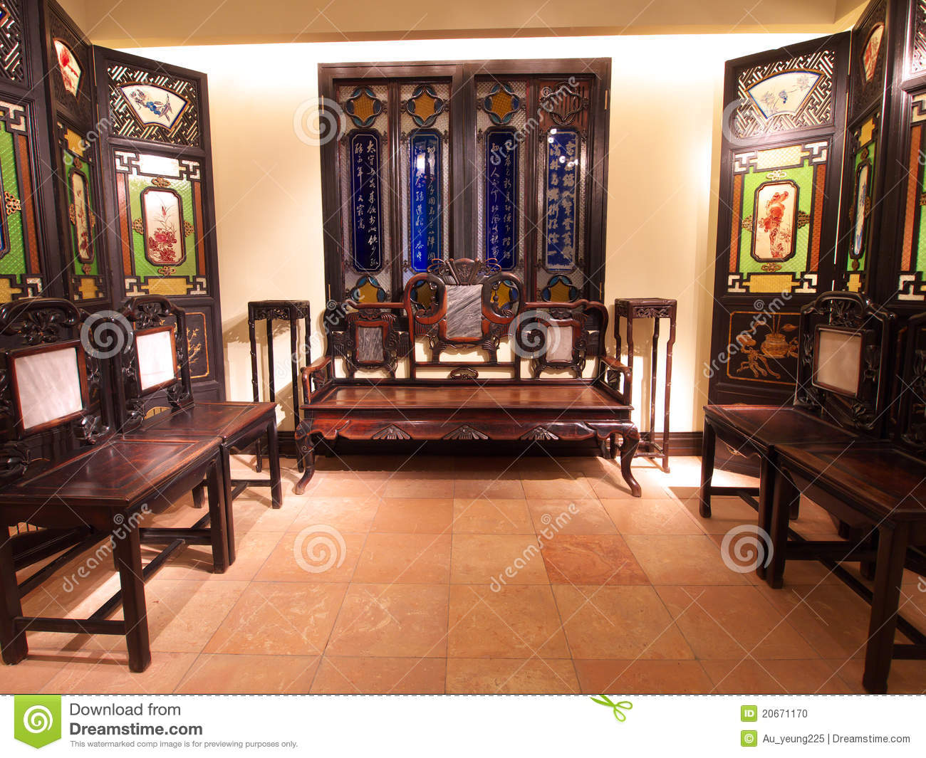 Old Chinese Living Room Editorial Image Image Of Room