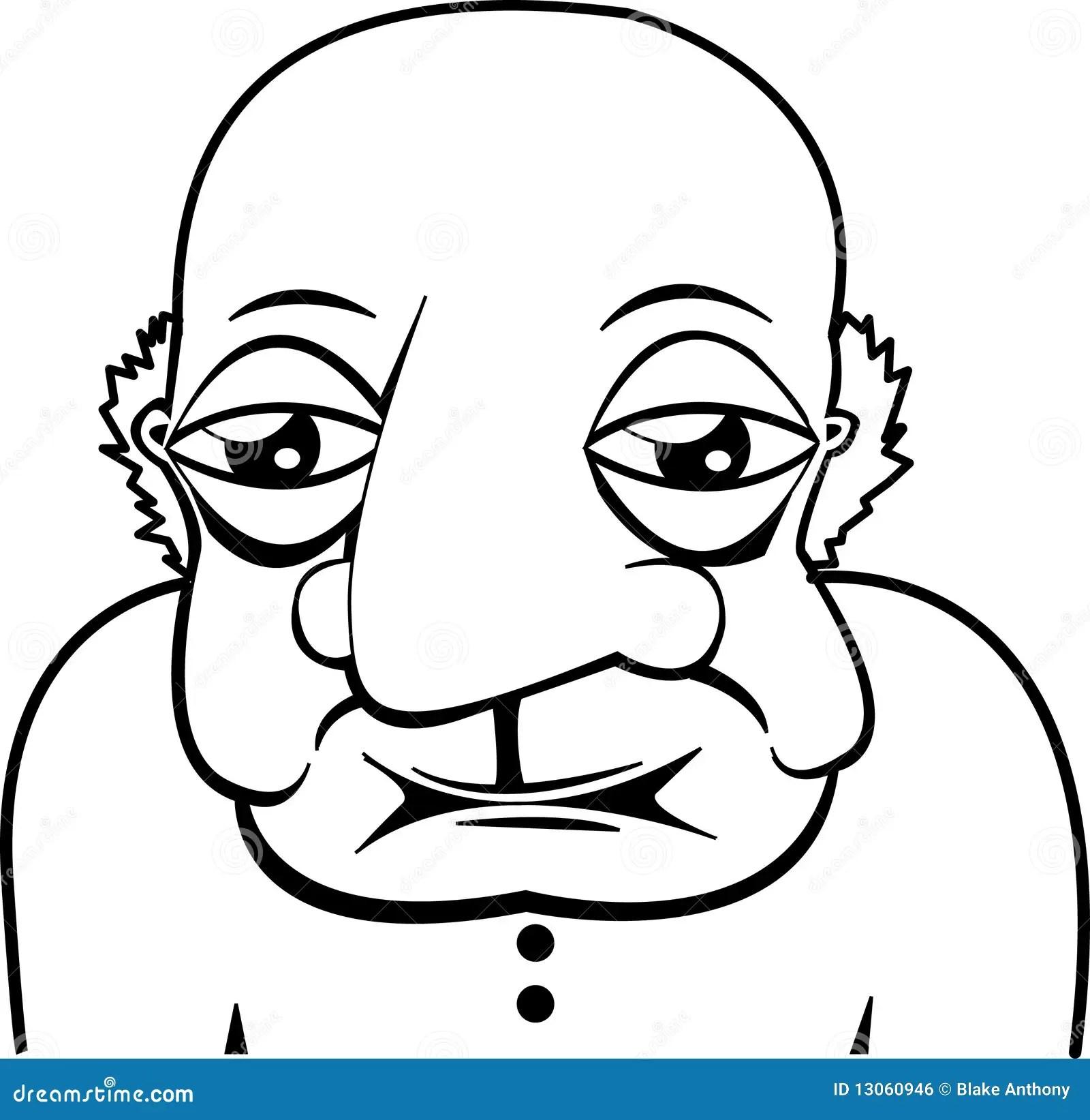 Old Elderly Bald Man Royalty Free Stock Image