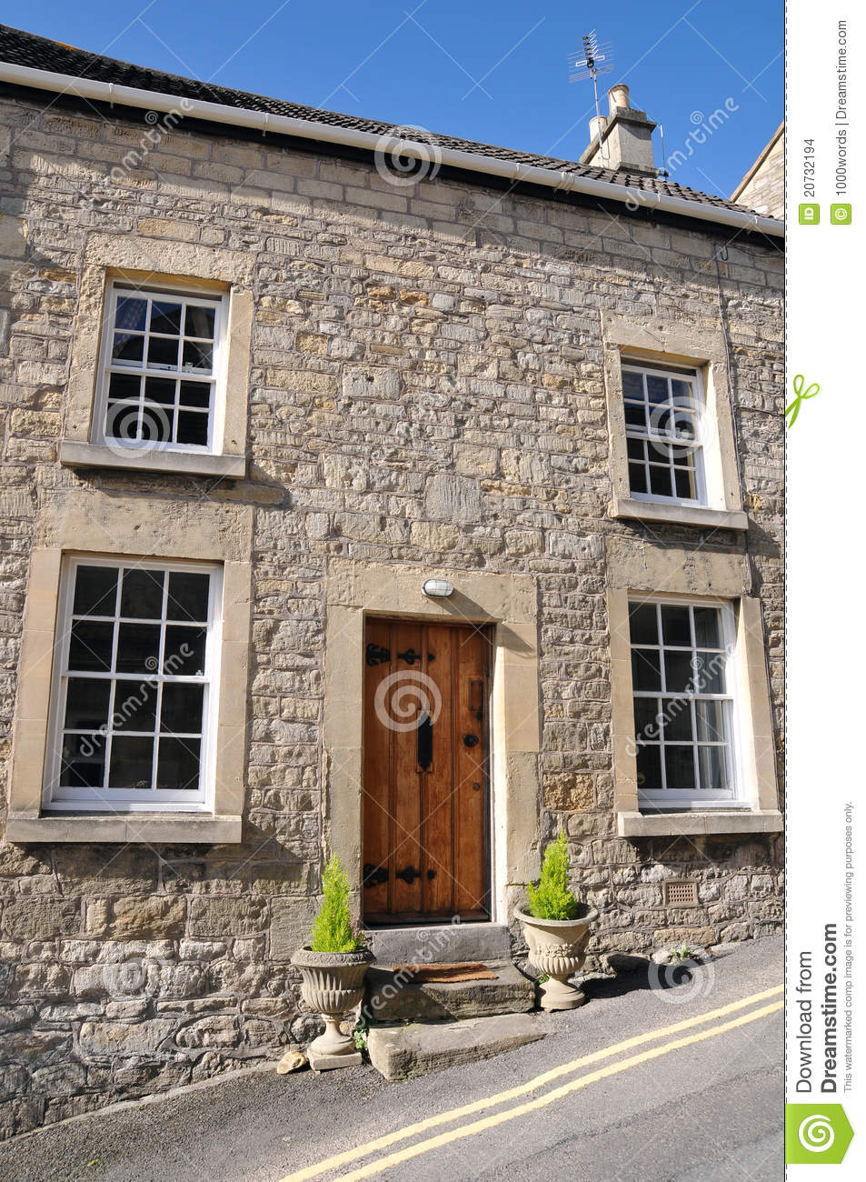 Old English Cottage Stock Photo Image Of Door Apartments