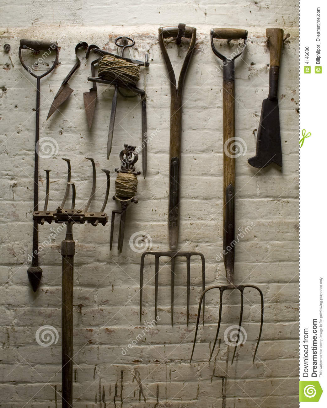 Old Garden Tools Stock Photo Image Of Fashion Wooden