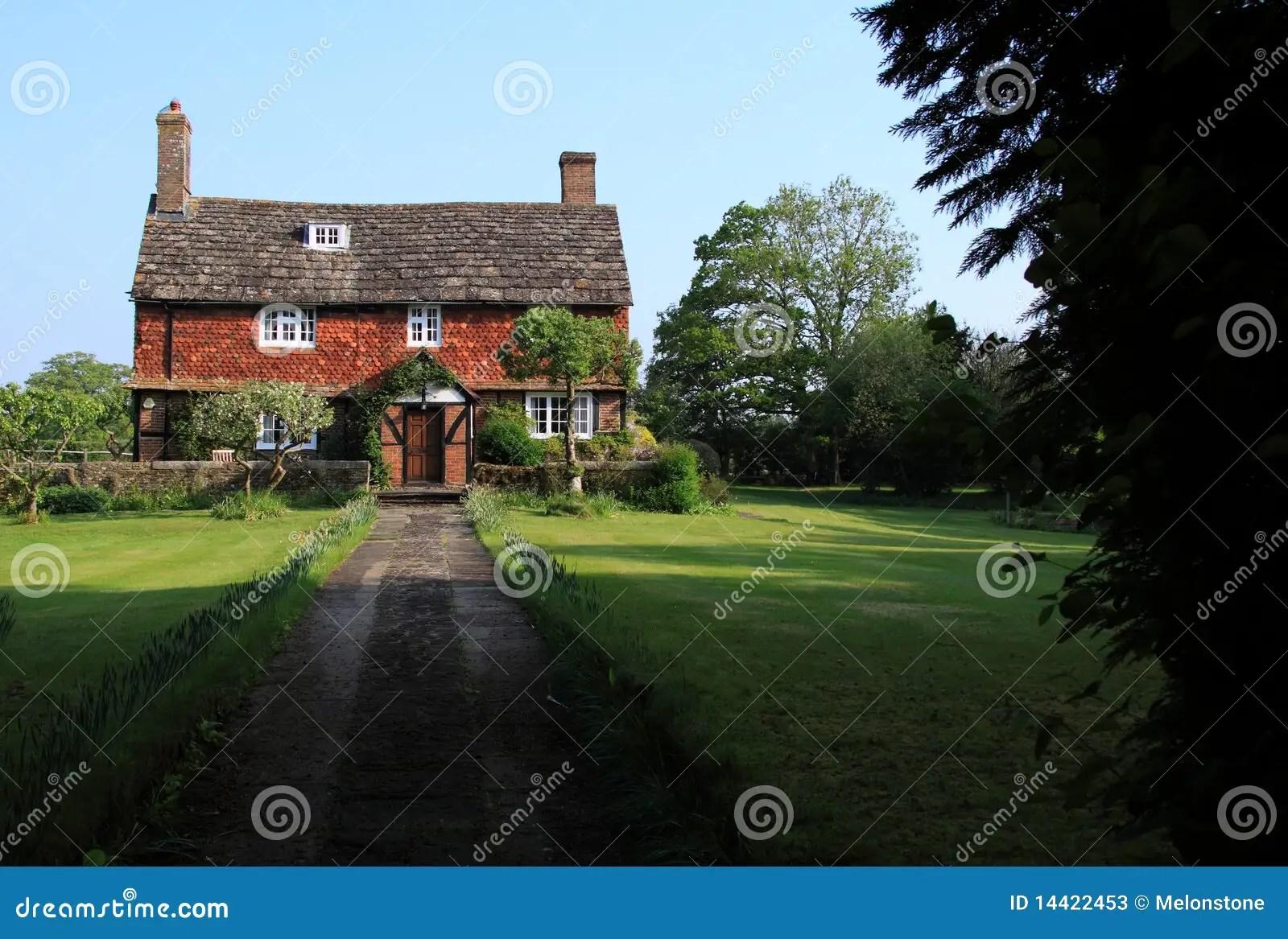 Old Historic English Farmhouse Stock Image Image Of