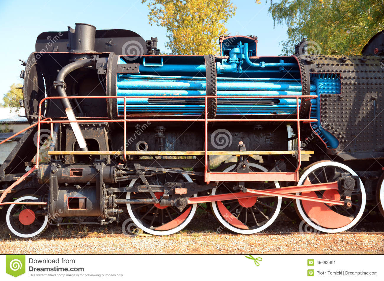 Old Historic Steam Train Stock Image Image Of Carriage