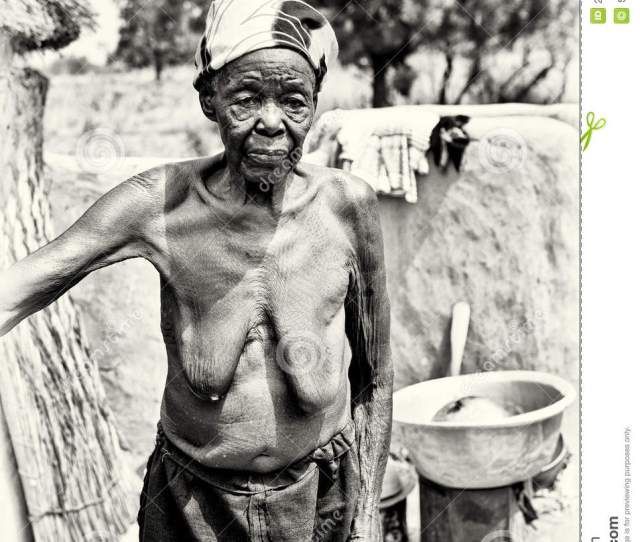 Old Lady From Ghana Half Naked