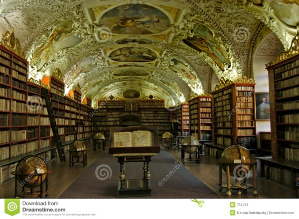 Old library stock image. Image of historical, globes ...